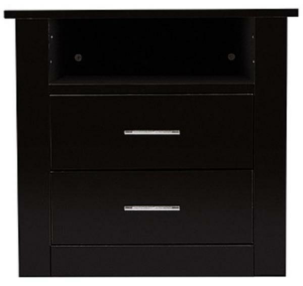 Mason Bedside 1 Drawer Nightstand Color: Black