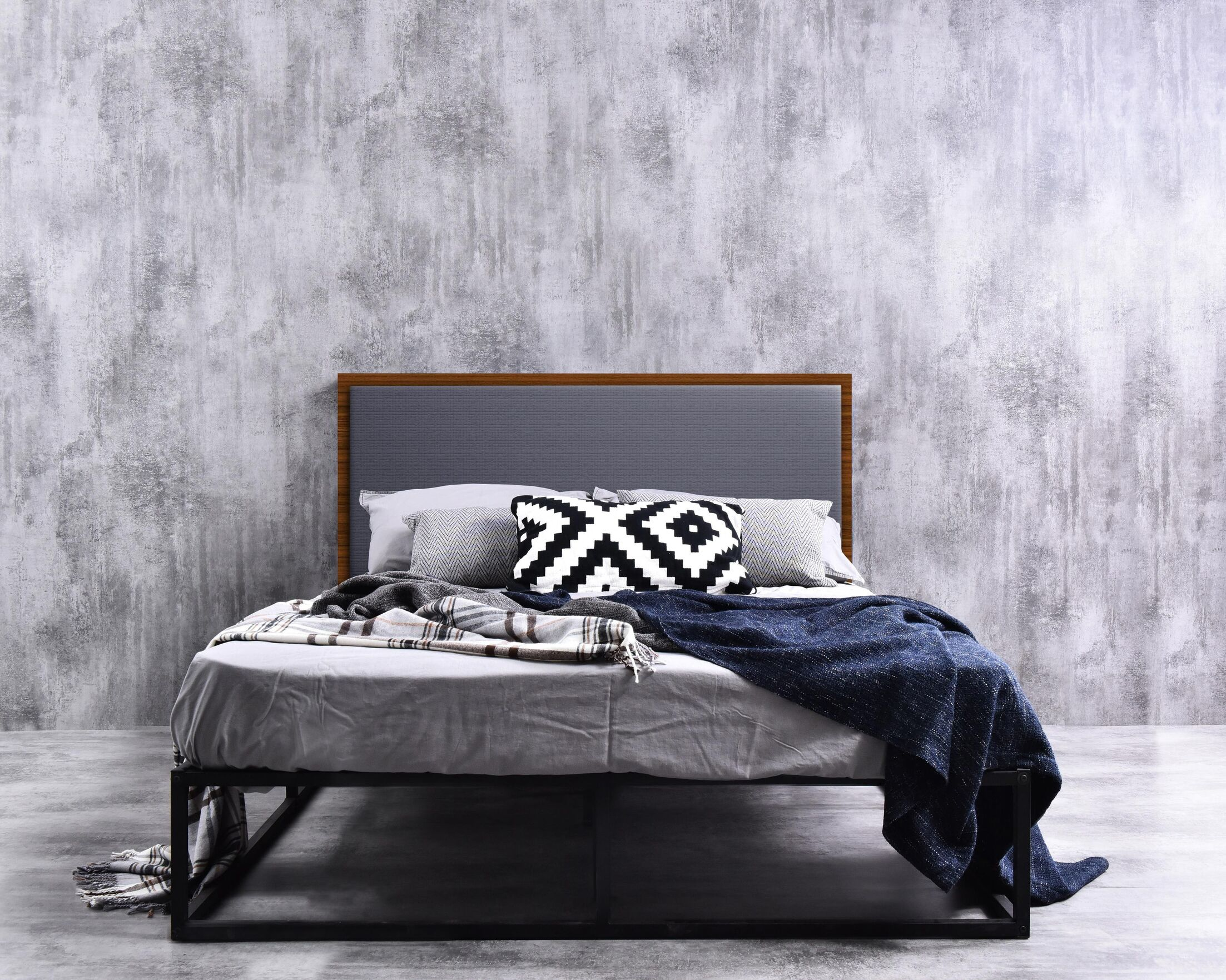 Misael Queen Upholstered Panel Bed