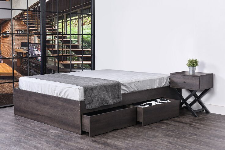 Martinez Storage Panel Bed Color: Iron Slate