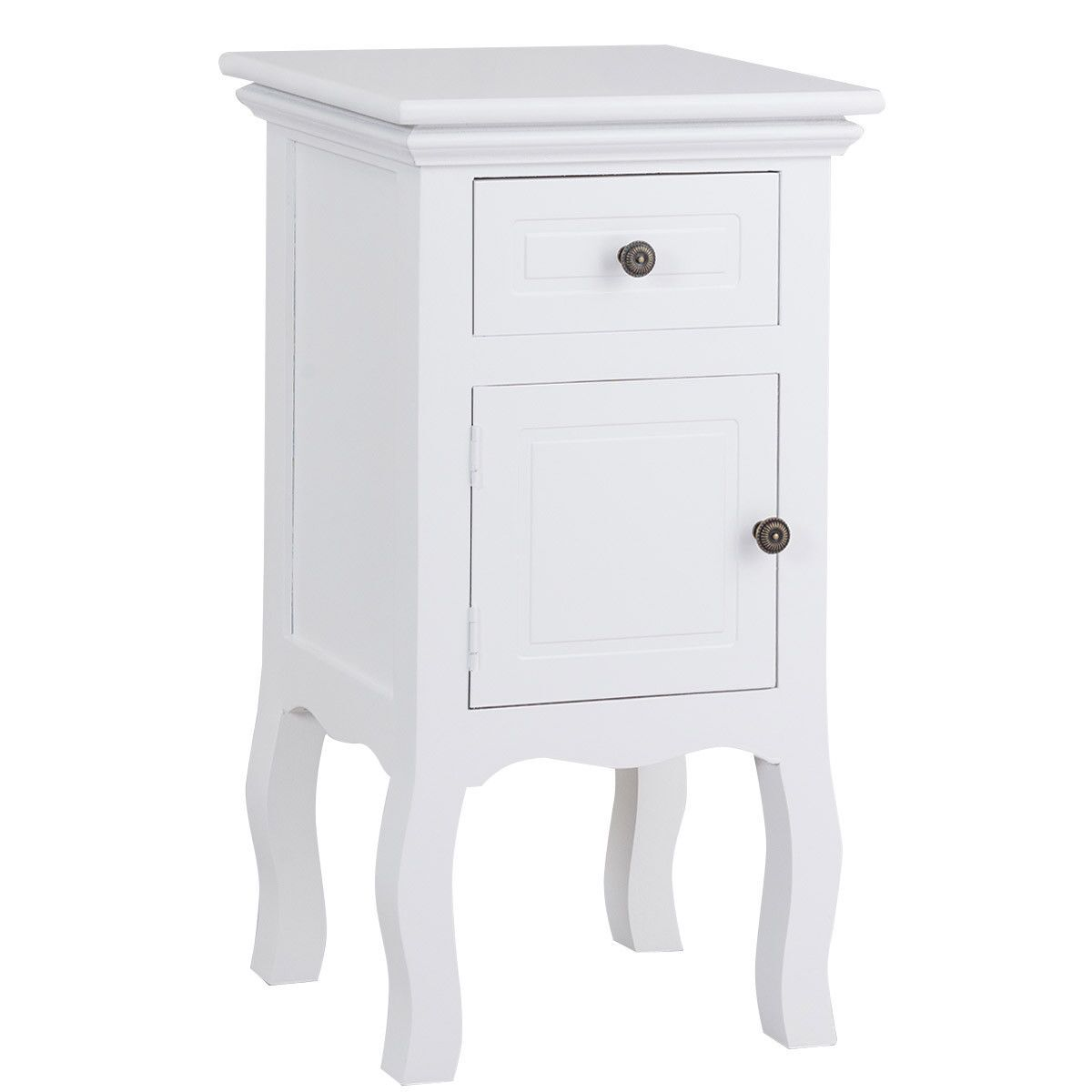 Buddy 1 Drawer Nightstand Color: White