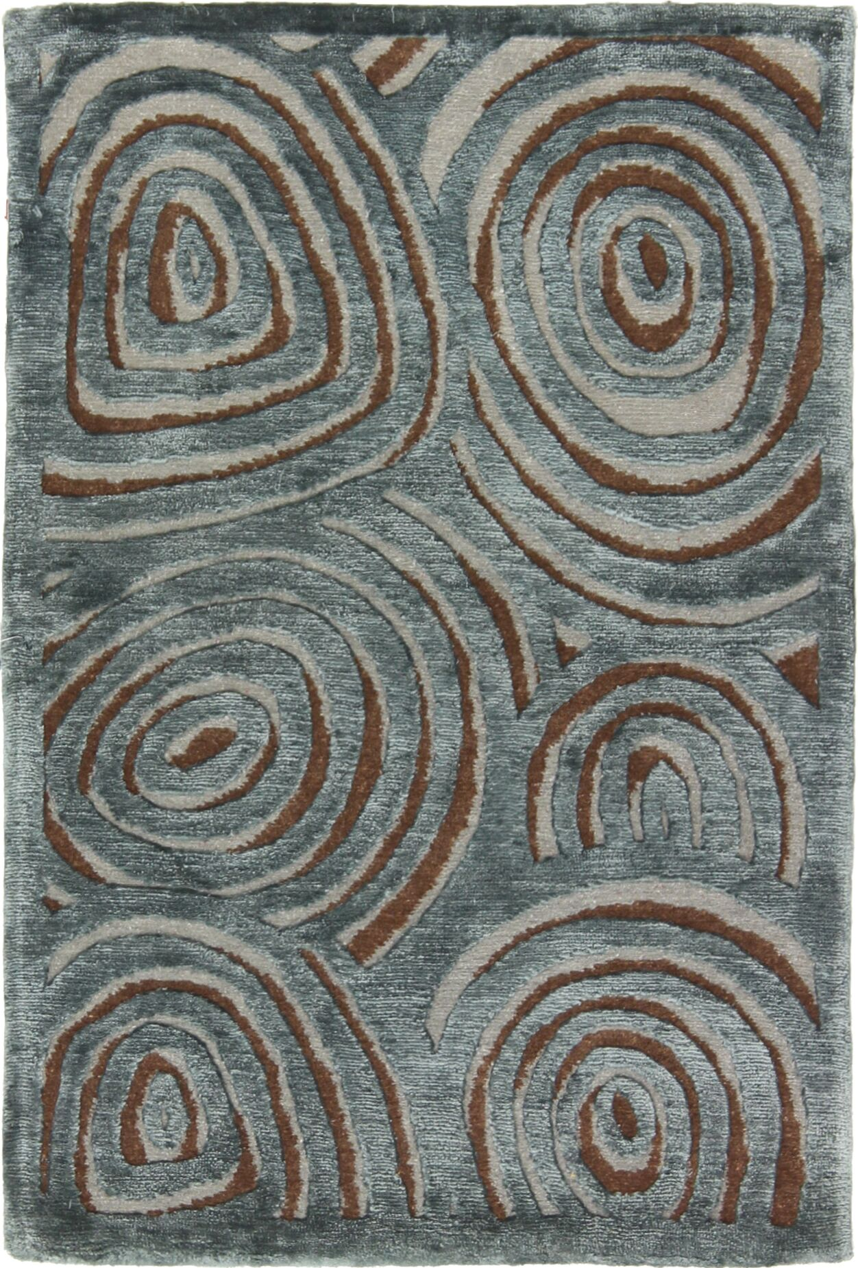 One-of-a-Kind Auburn Road Hand-Knotted Blue Area Rug