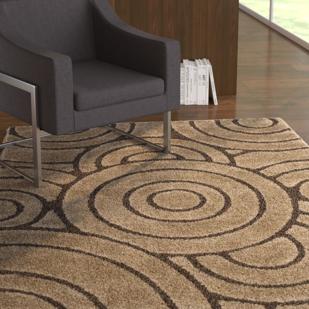 Mckay Brown Area Rug Rug Size: Rectangle 4' x 6'