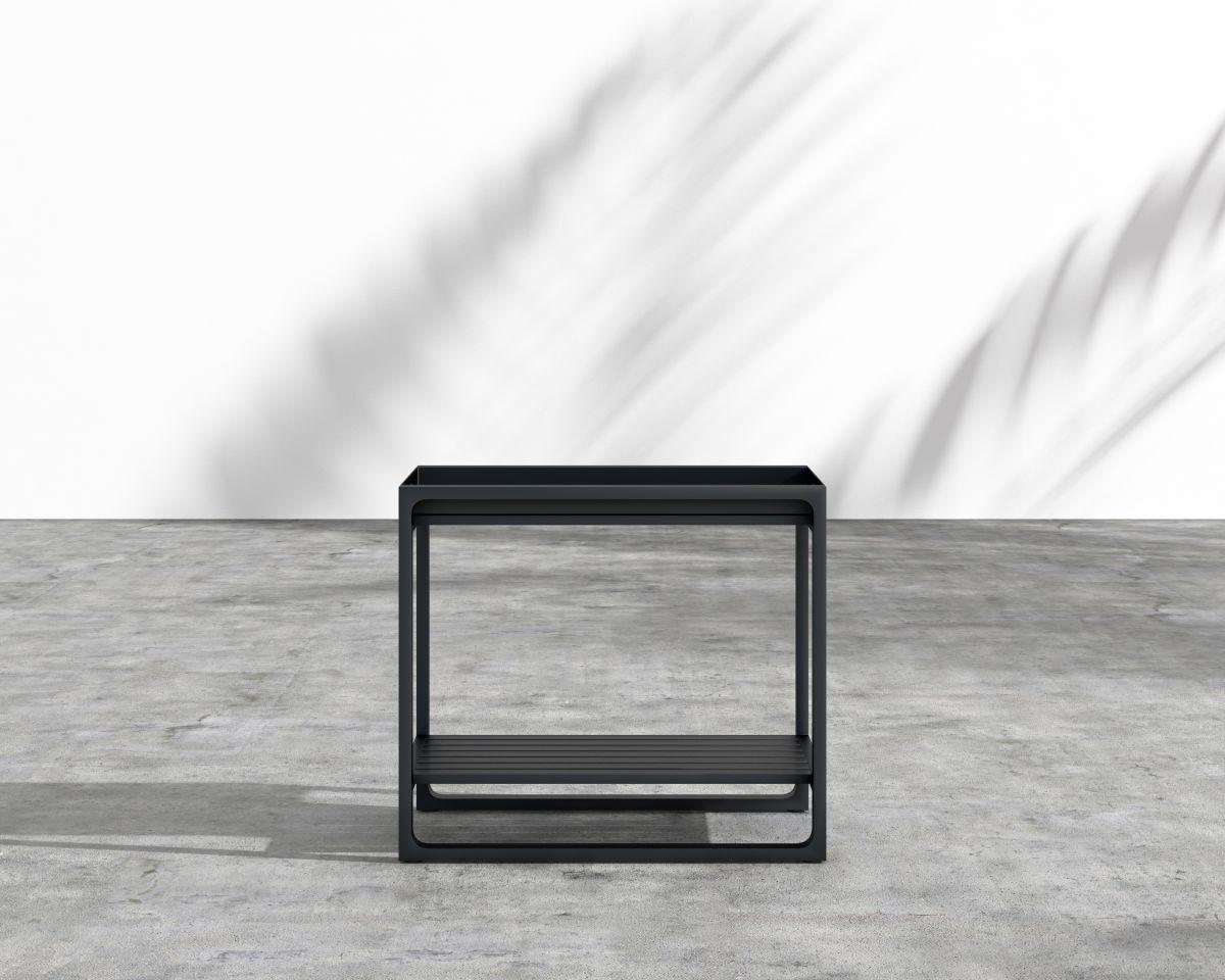 Dustin Aluminum Side Table Base Color: Charcoal