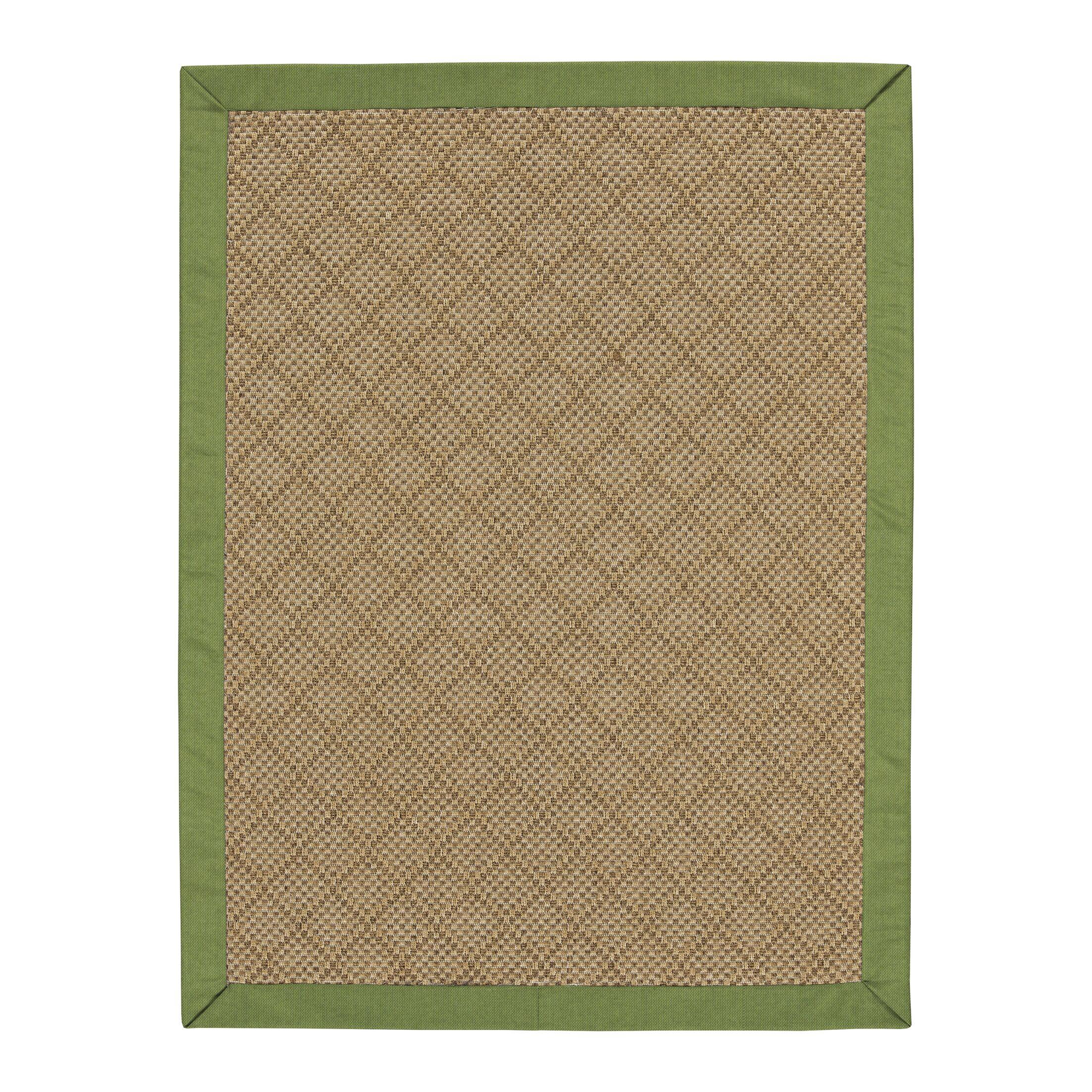 Major Sunbrella Green Indoor/Outdoor Area Rug Rug Size: Rectangle 8' x 10'