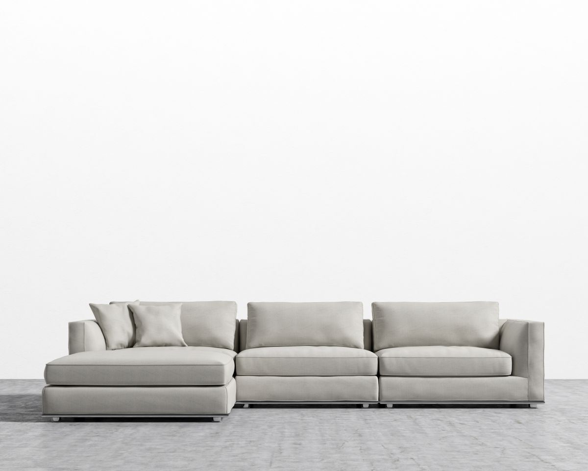 Clemons Modular Sectional with Ottoman Upholstery: Oyster