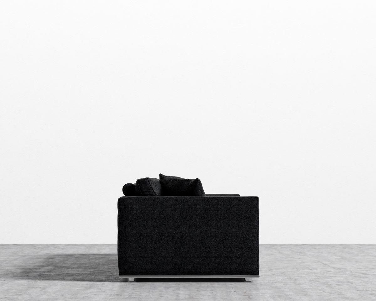 Clemons Standard Sofa Upholstery: Charcoal