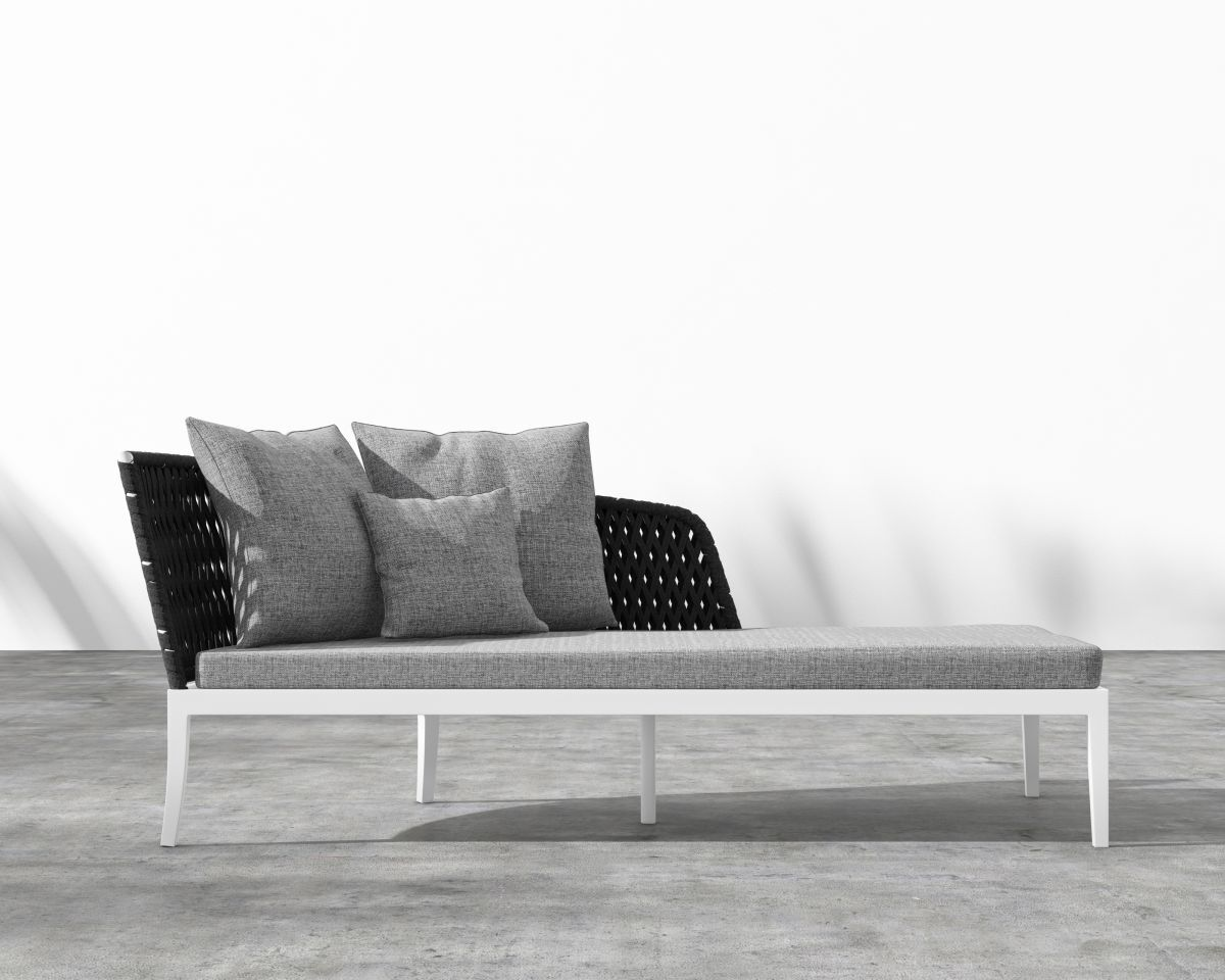 Cochran Chaise Lounge with Cushion Color: Dark Grey
