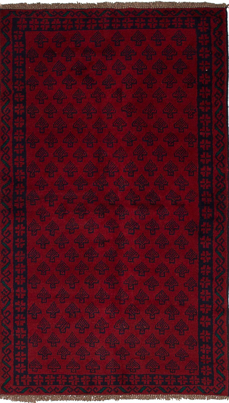 One-of-a-Kind Alaric Hand-Knotted Wool Red Area Rug