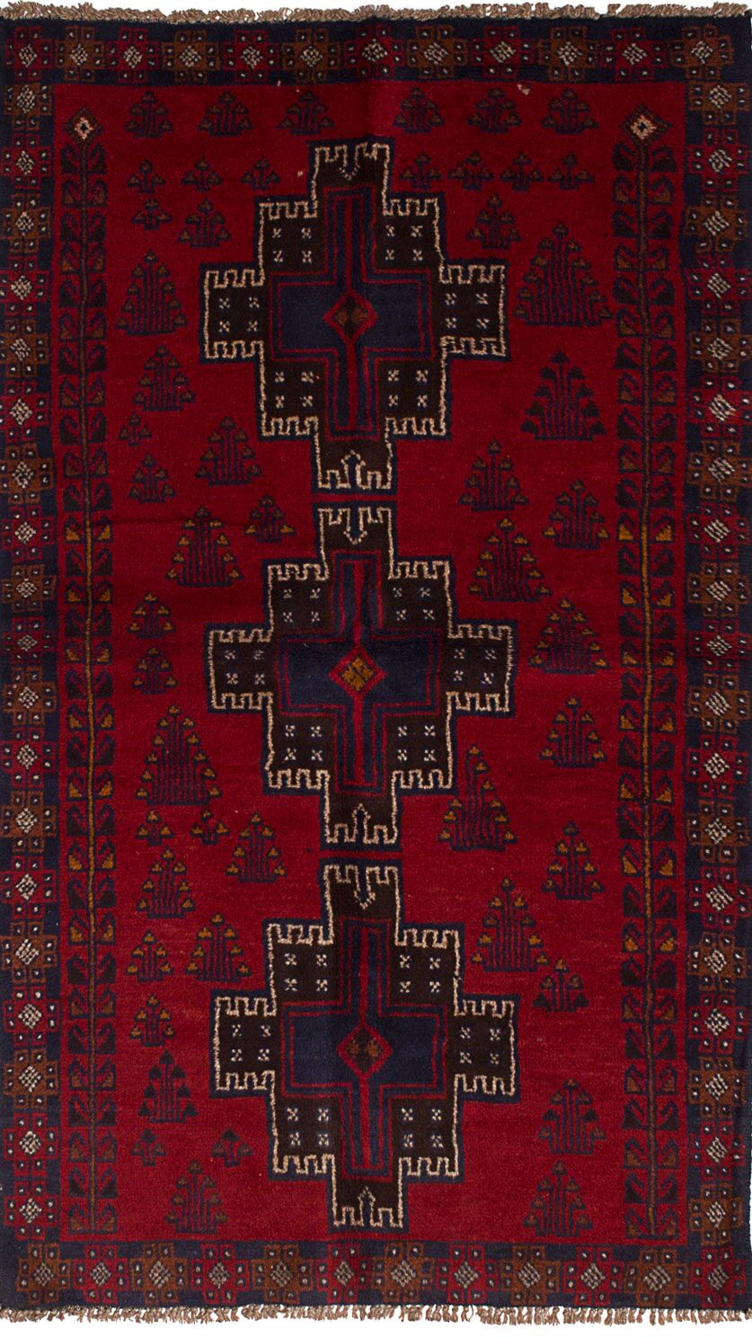 One-of-a-Kind Alaniz Hand-Knotted Wool Red Area Rug