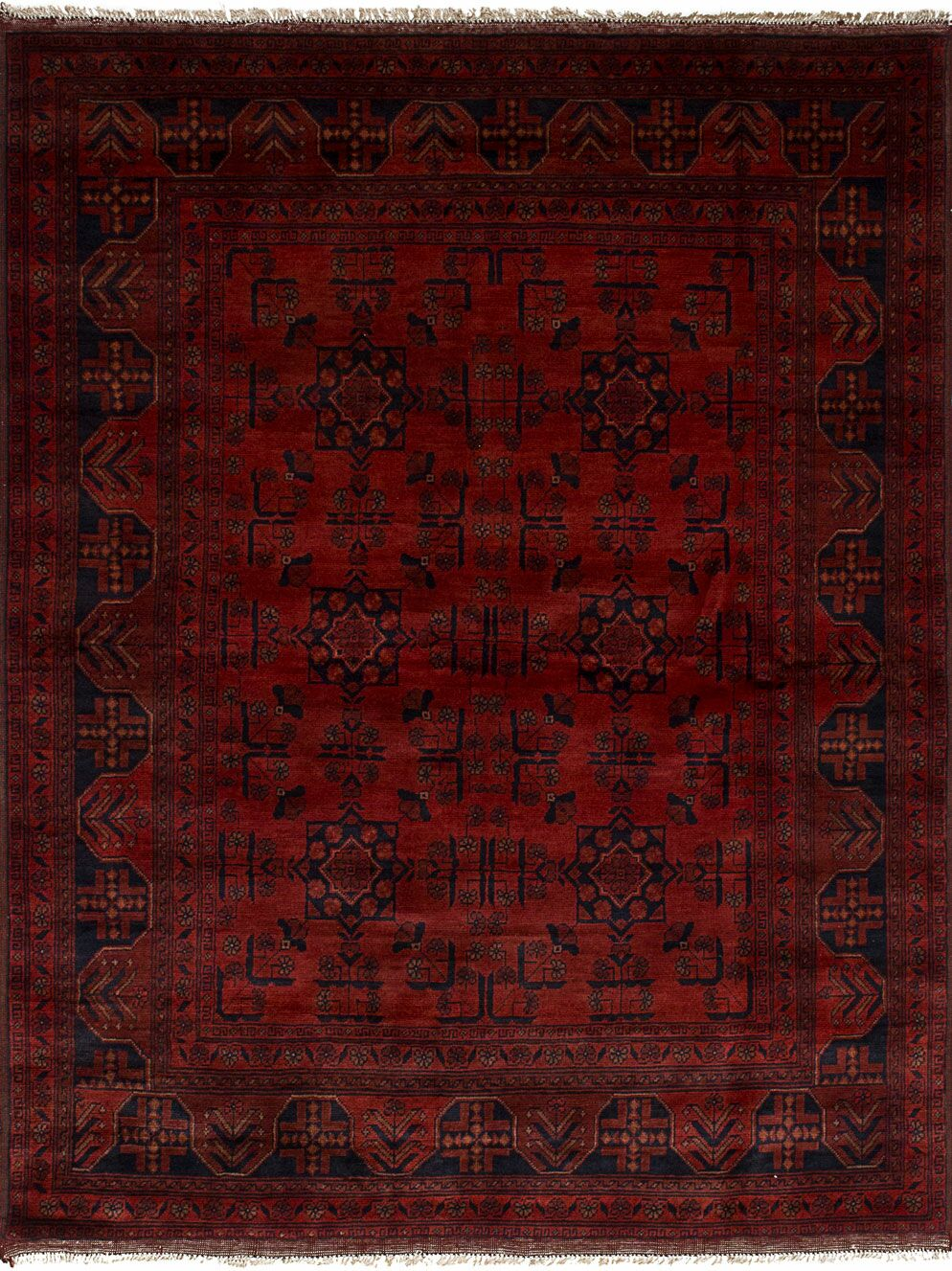 One-of-a-Kind Alaraph Hand-Knotted Wool Red Area Rug