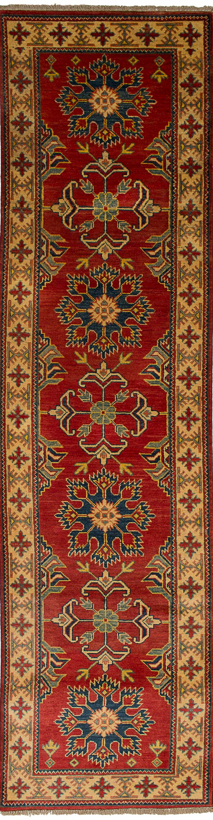 One-of-a-Kind Alarice Hand-Knotted Wool Red/Beige Area Rug