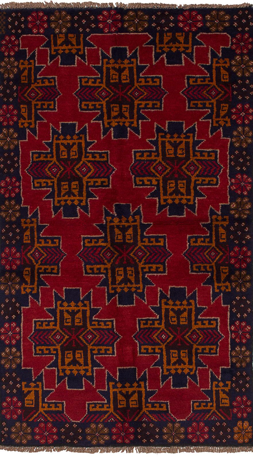 One-of-a-Kind Alanna Hand-Knotted Wool Red/Brown Area Rug