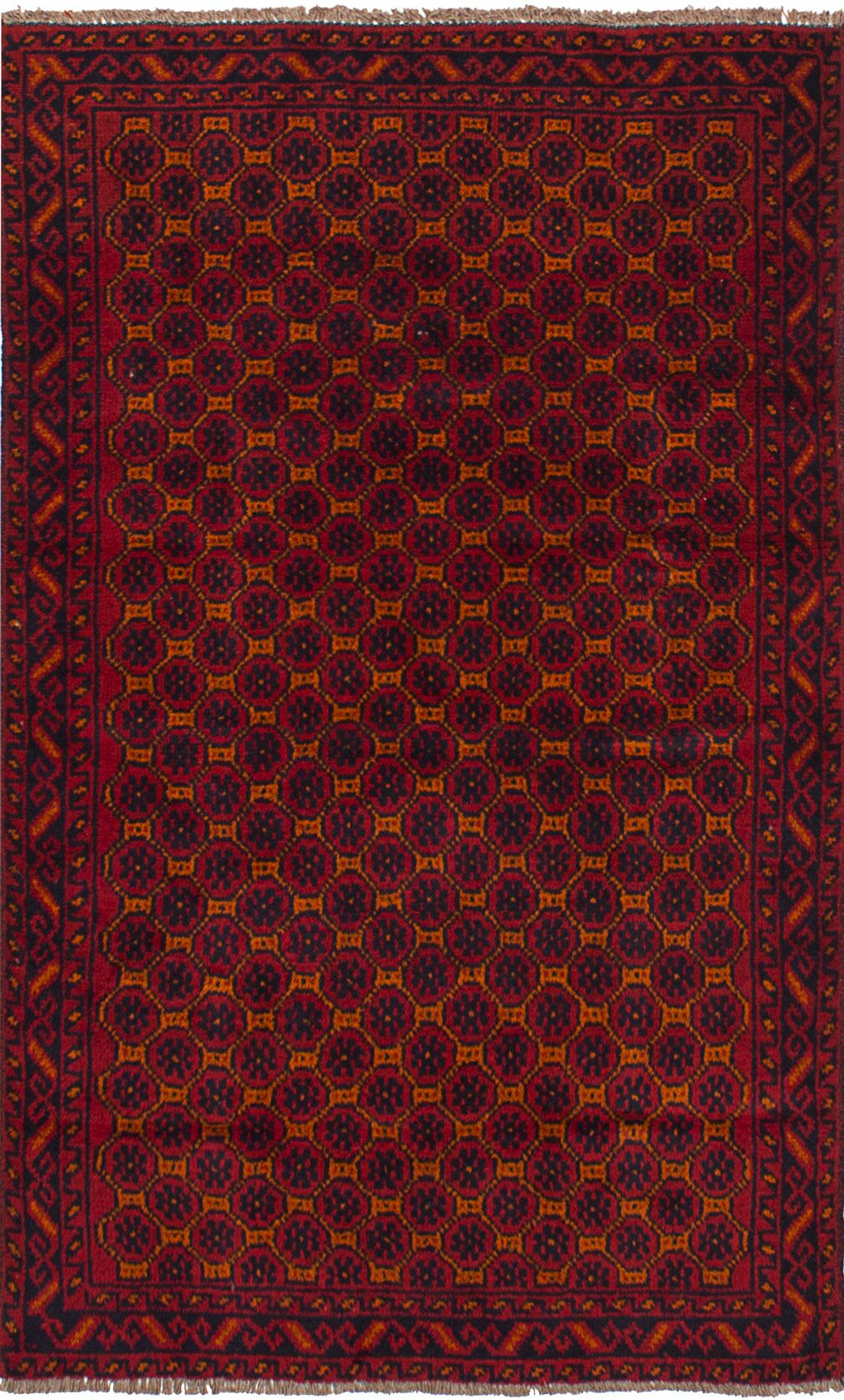 One-of-a-Kind Alanna Hand-Knotted Wool Red Area Rug