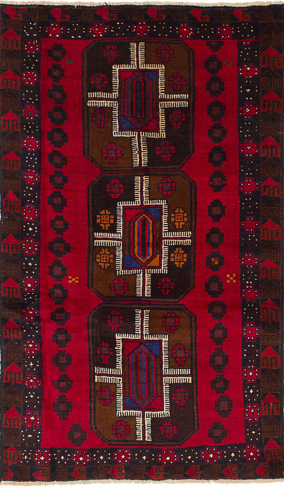 One-of-a-Kind Alana Hand-Knotted Wool Red Area Rug