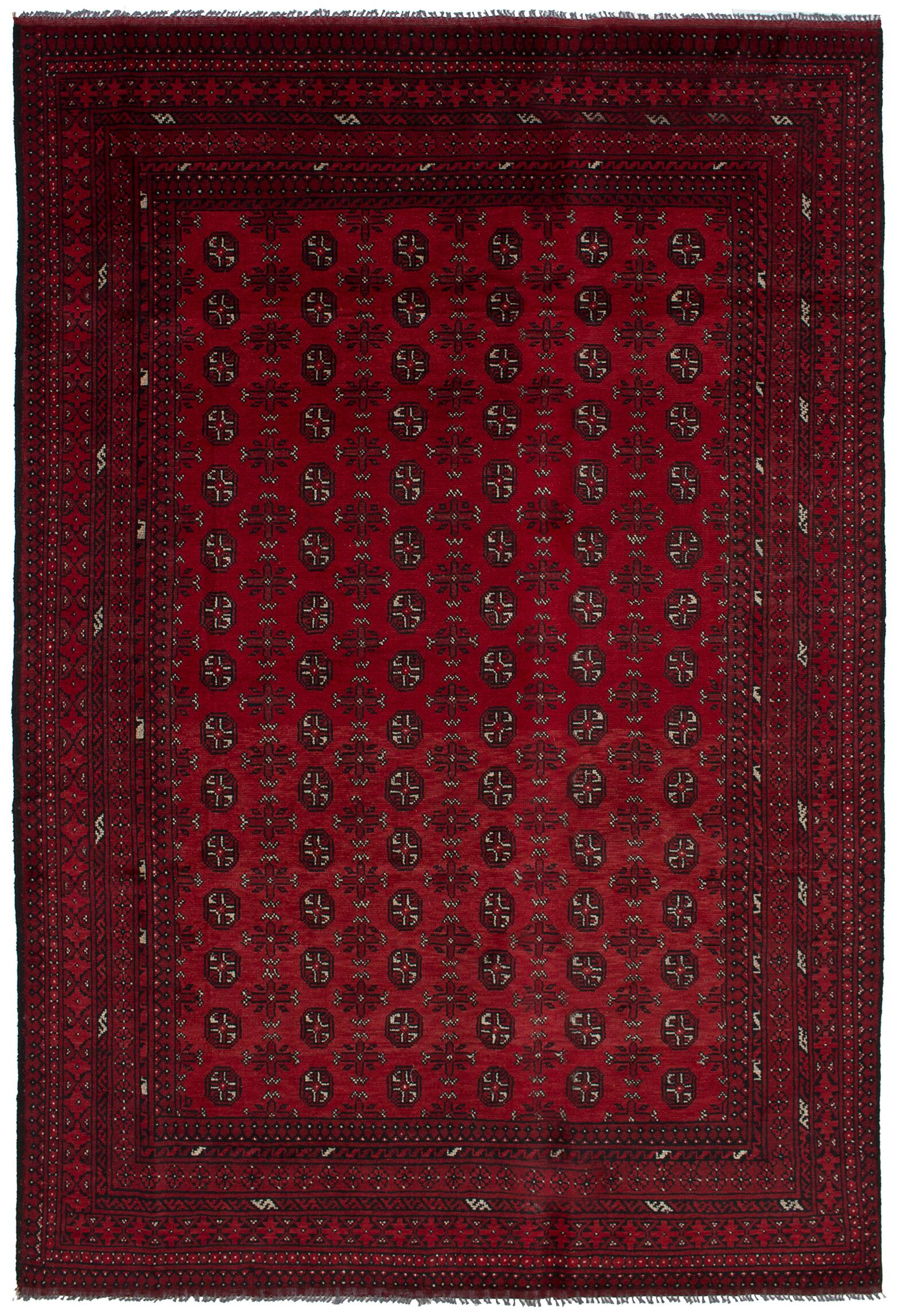 One-of-a-Kind Alarick Hand-Knotted Wool Red Area Rug
