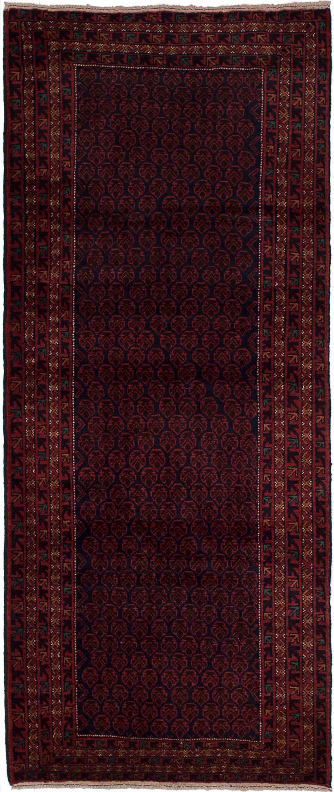 One-of-a-Kind Alarik Hand-Knotted Wool Dark Copper/Dark Navy Area Rug
