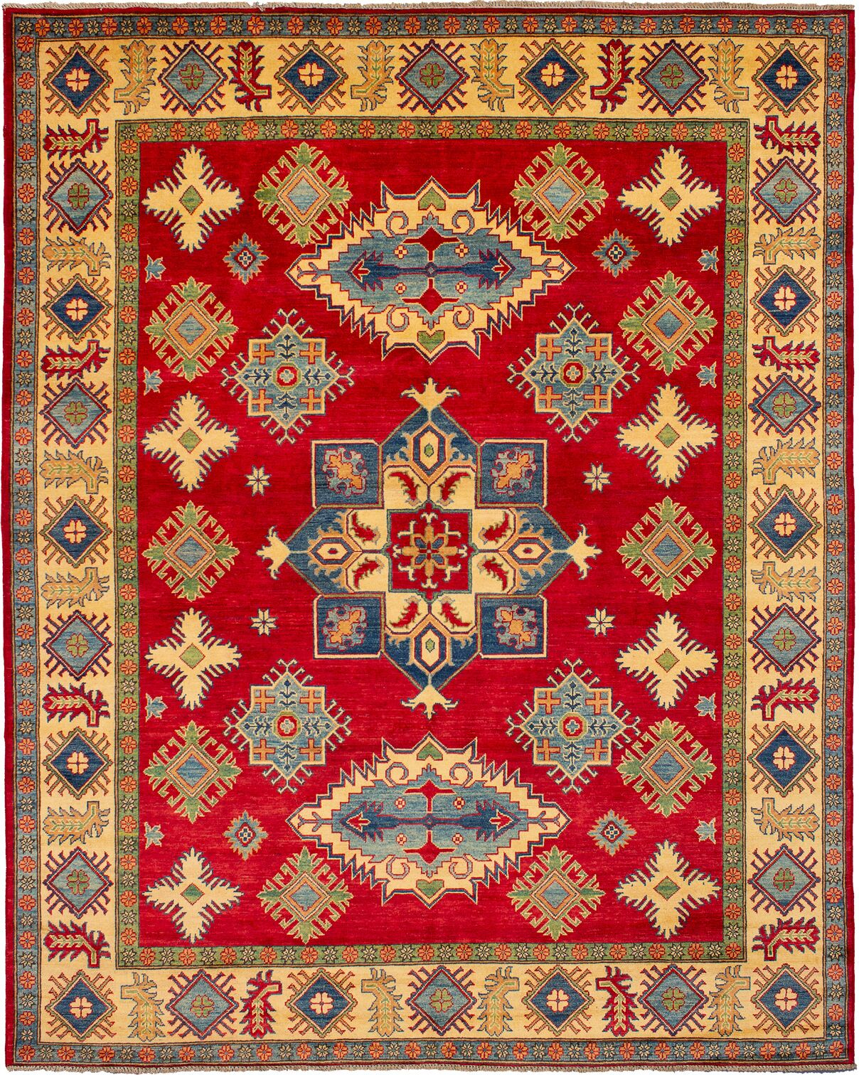 One-of-a-Kind Alarice Hand-Knotted Wool Red/Gold Area Rug