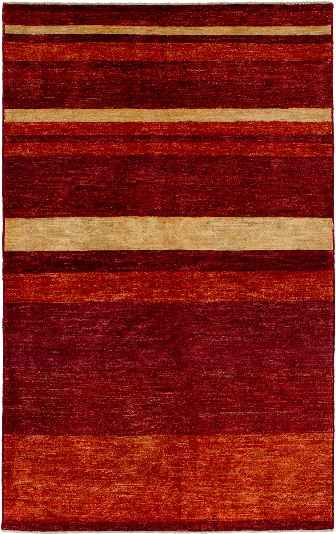One-of-a-Kind Alasdair Hand-Knotted Wool Dark Red Area Rug