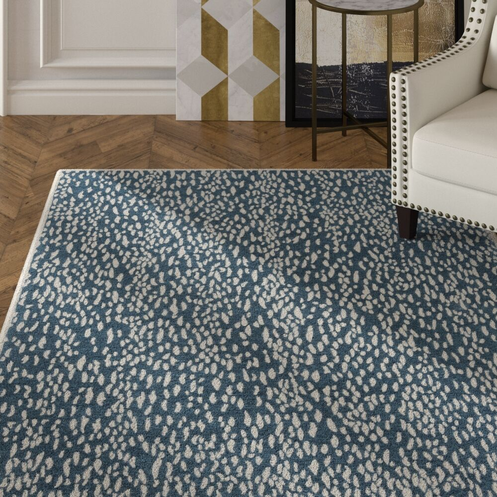 Ankit Hand Tufted Blue Area Rug Rug Size: Round 6'