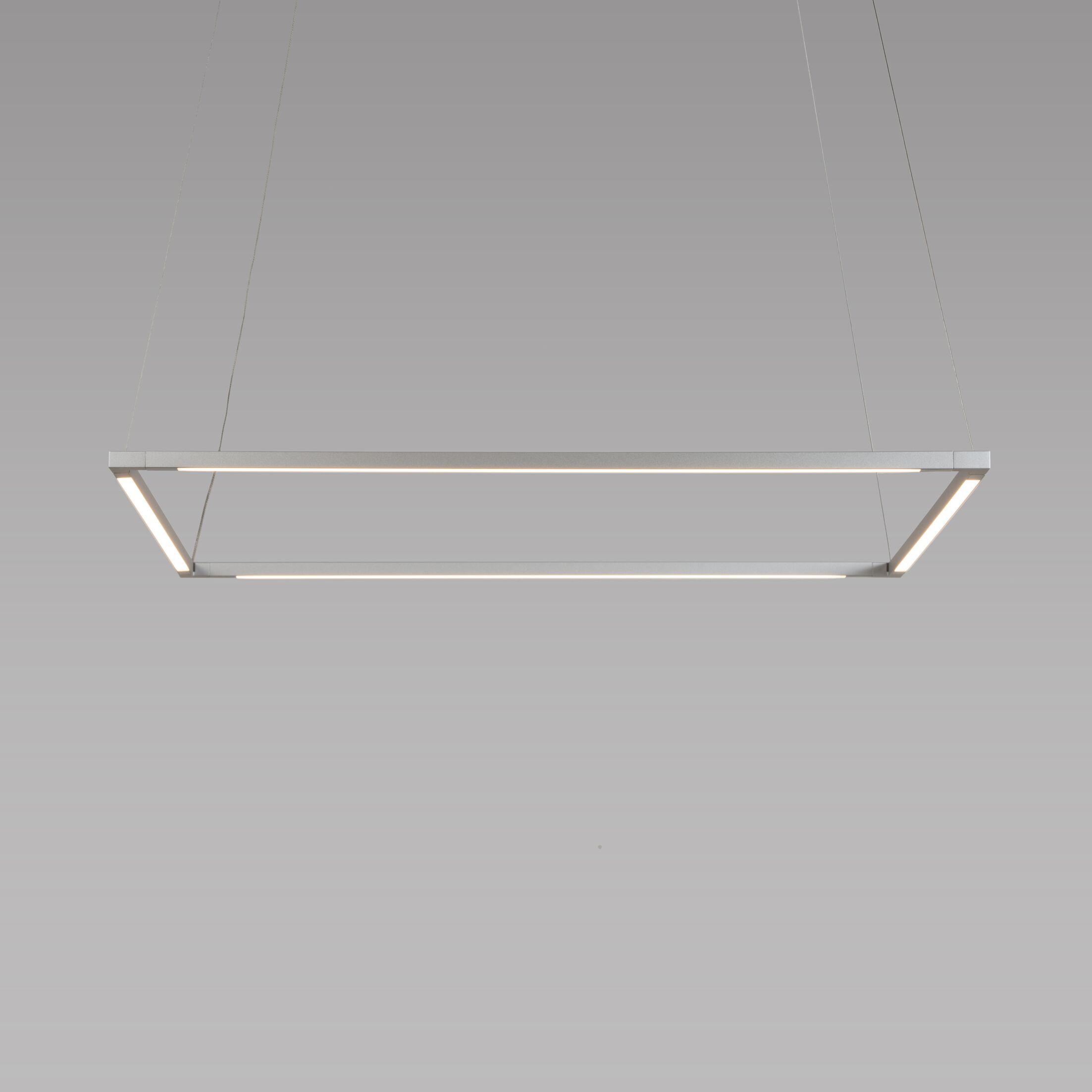 Z-Bar 4-Light LED Geometric Pendant Finish: Silver, Size: 25.98