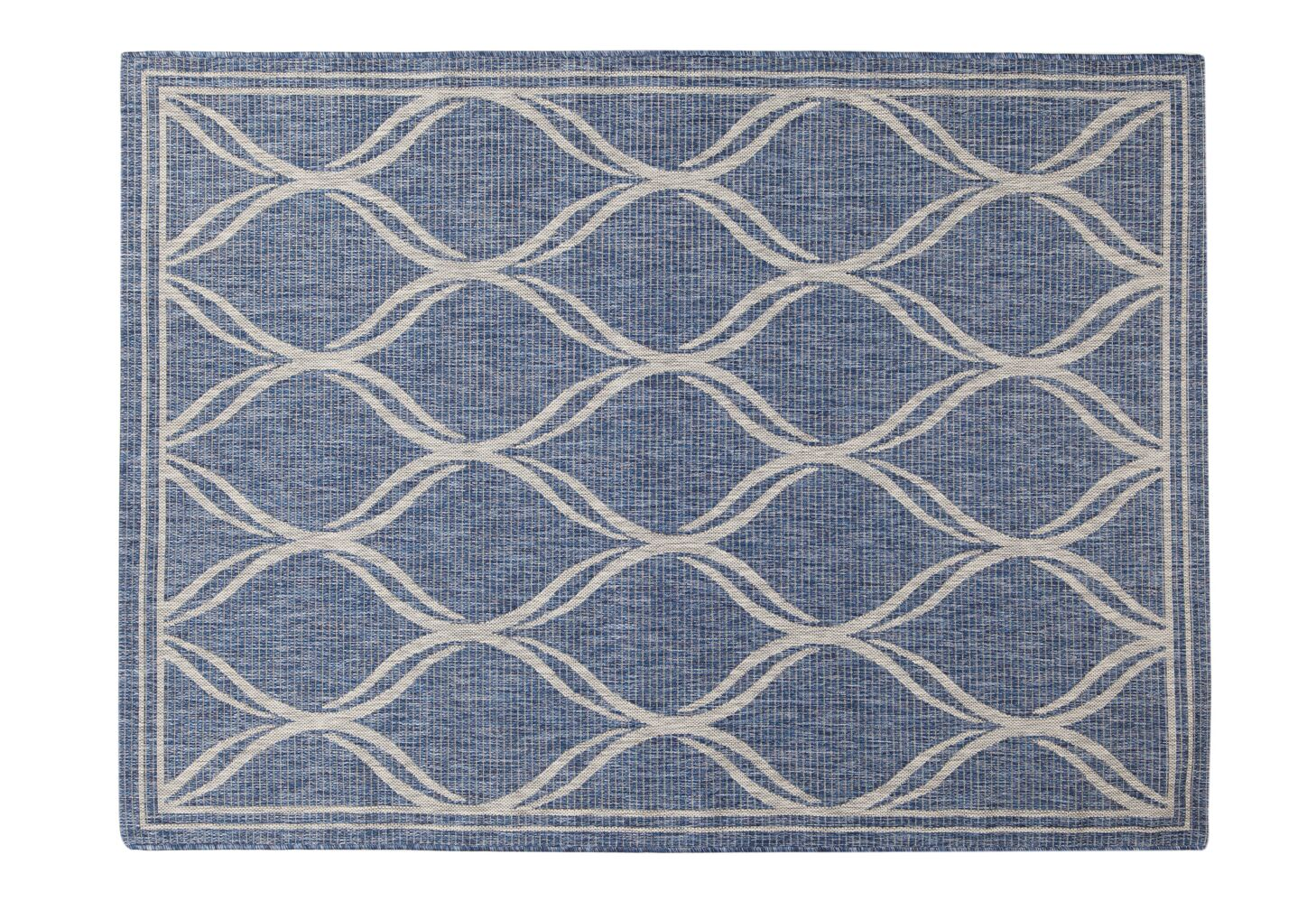 Selina Navy/Gray Indoor/Outdoor Area Rug Rug Size: Rectangle 5' x 8'