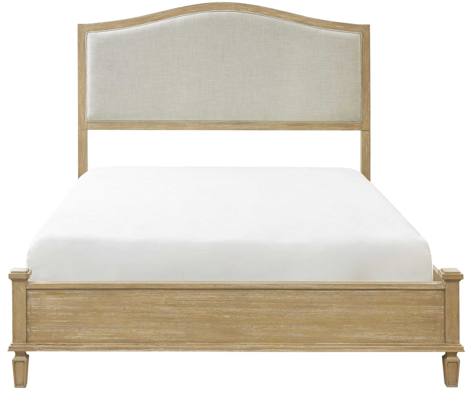 Victoria Queen Upholstered Panel Bed