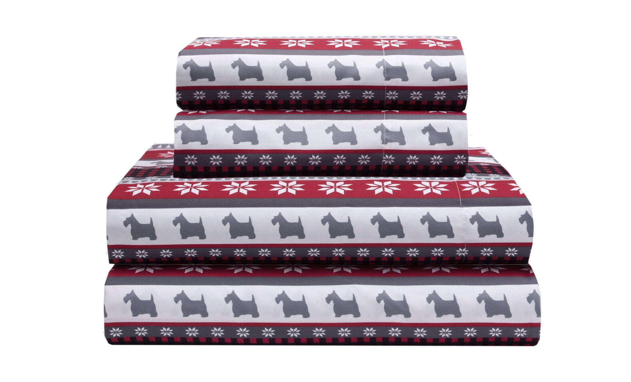 Eve Holiday Microfiber Print Sheet Set Size: King