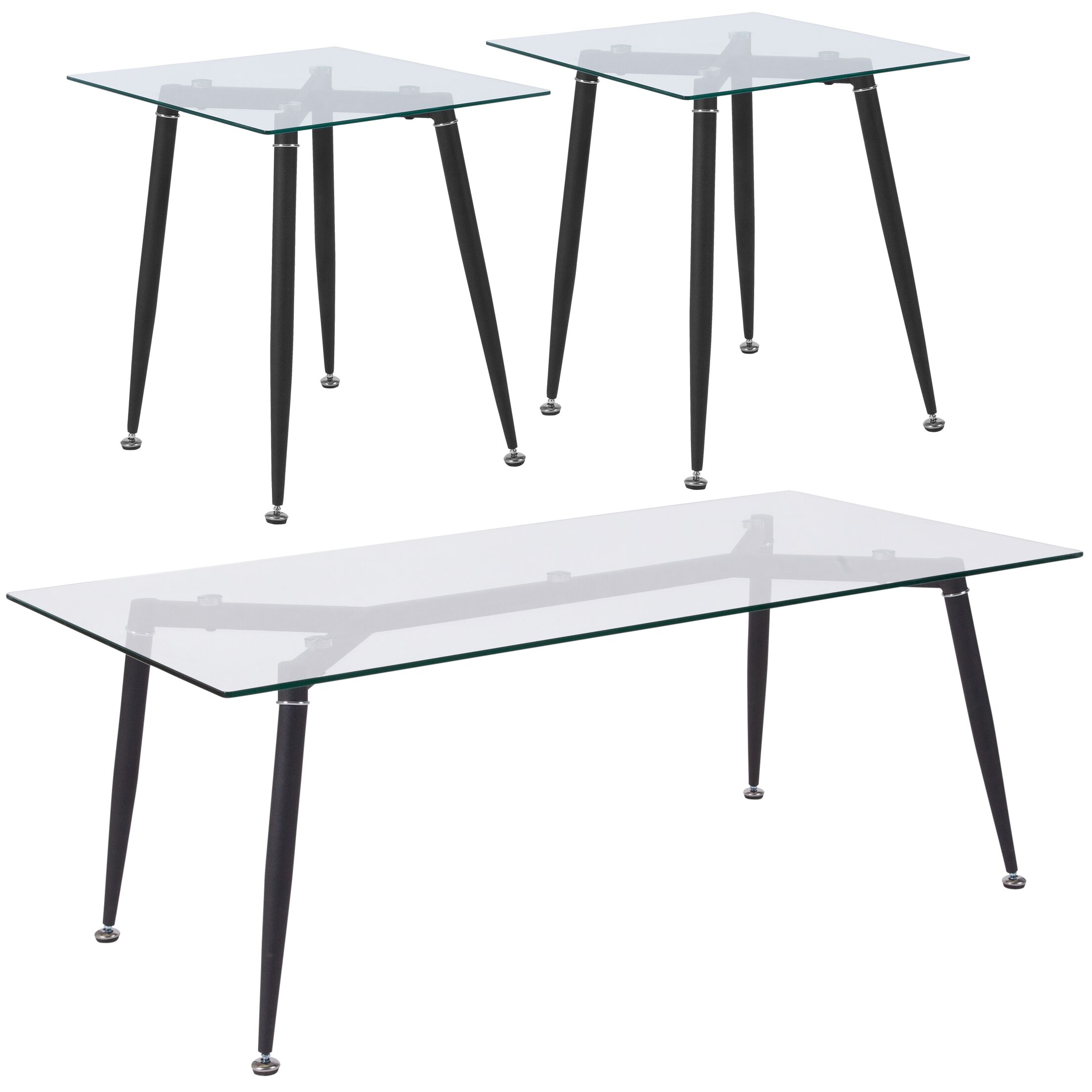 Bressler 3 Piece Coffee Table Set