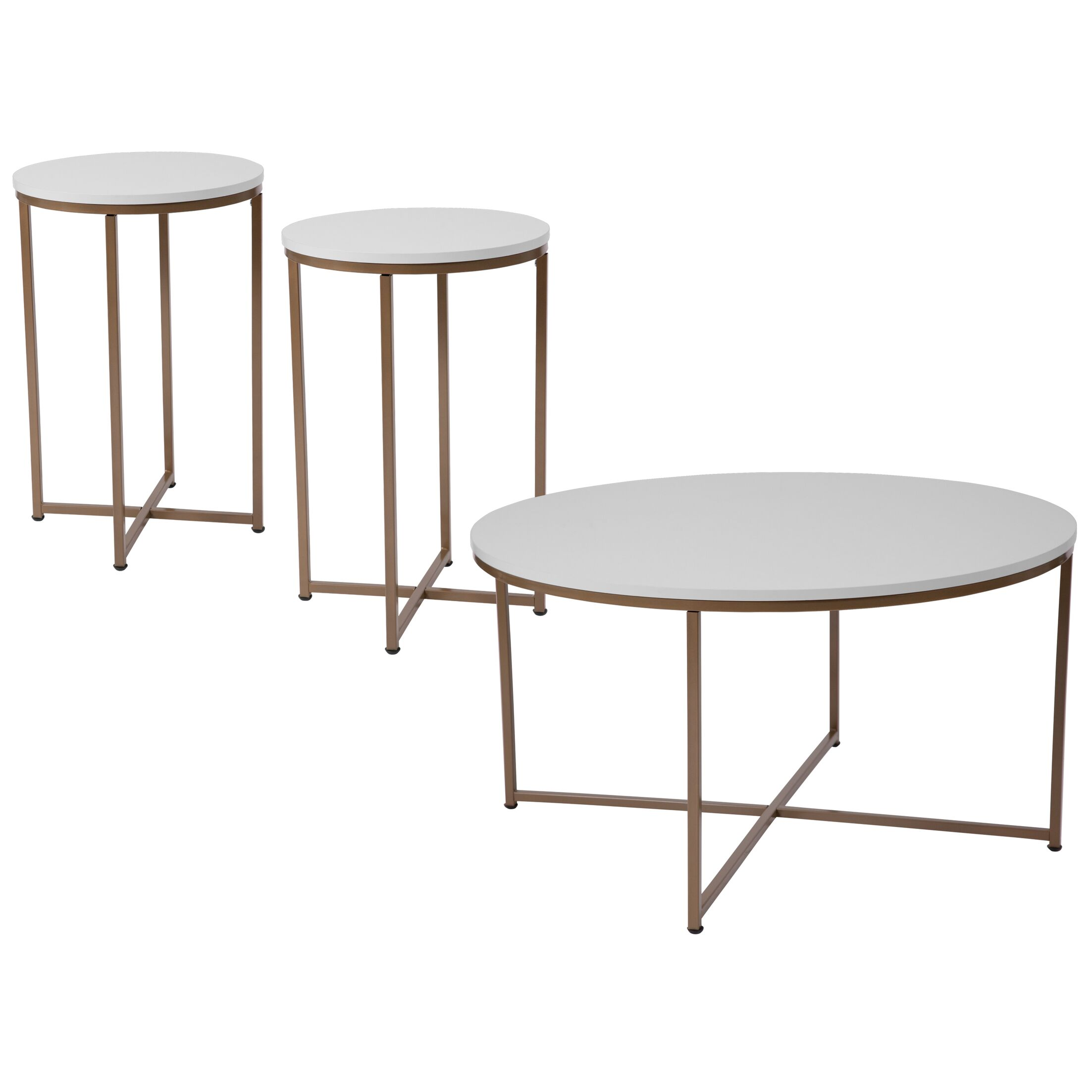 Bretz 3 Piece Coffee Table Set