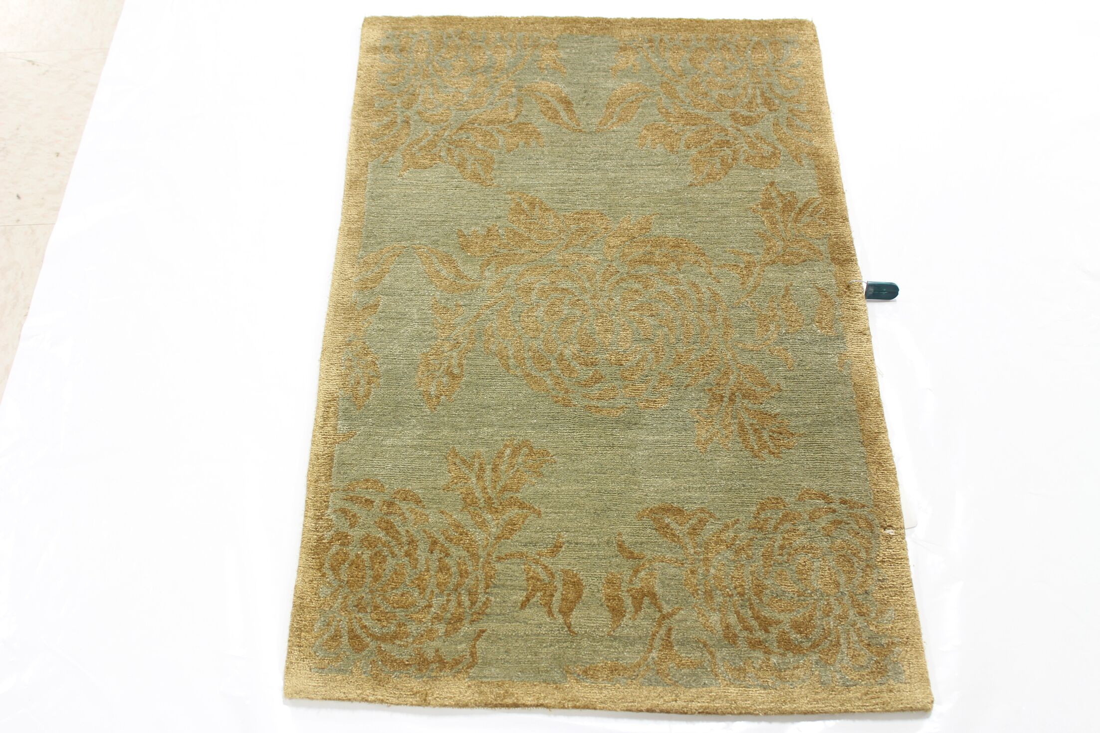 One-of-a-Kind Alejandra Tibetan Hand-Knotted Brown/Pink Area Rug