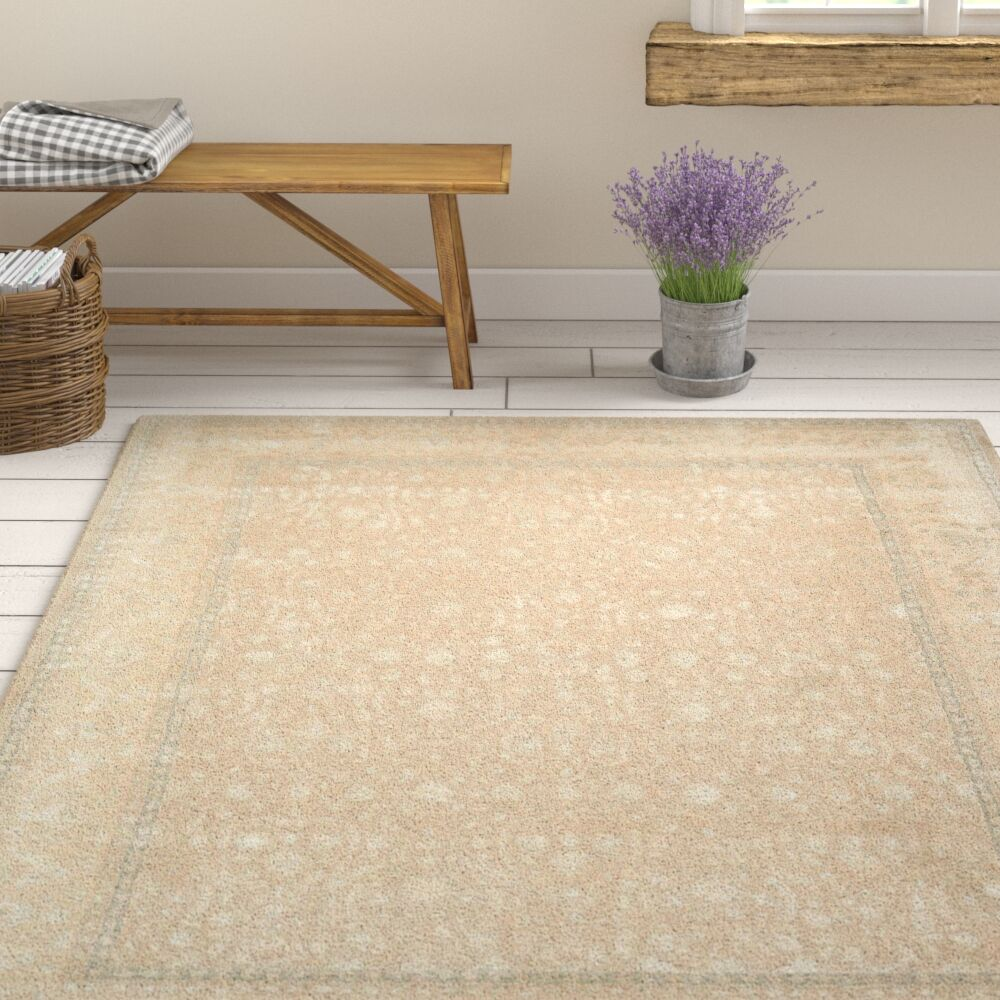 Deslauriers Hand-Tufted Latte Area Rug Rug Size: Rectangle 5'6