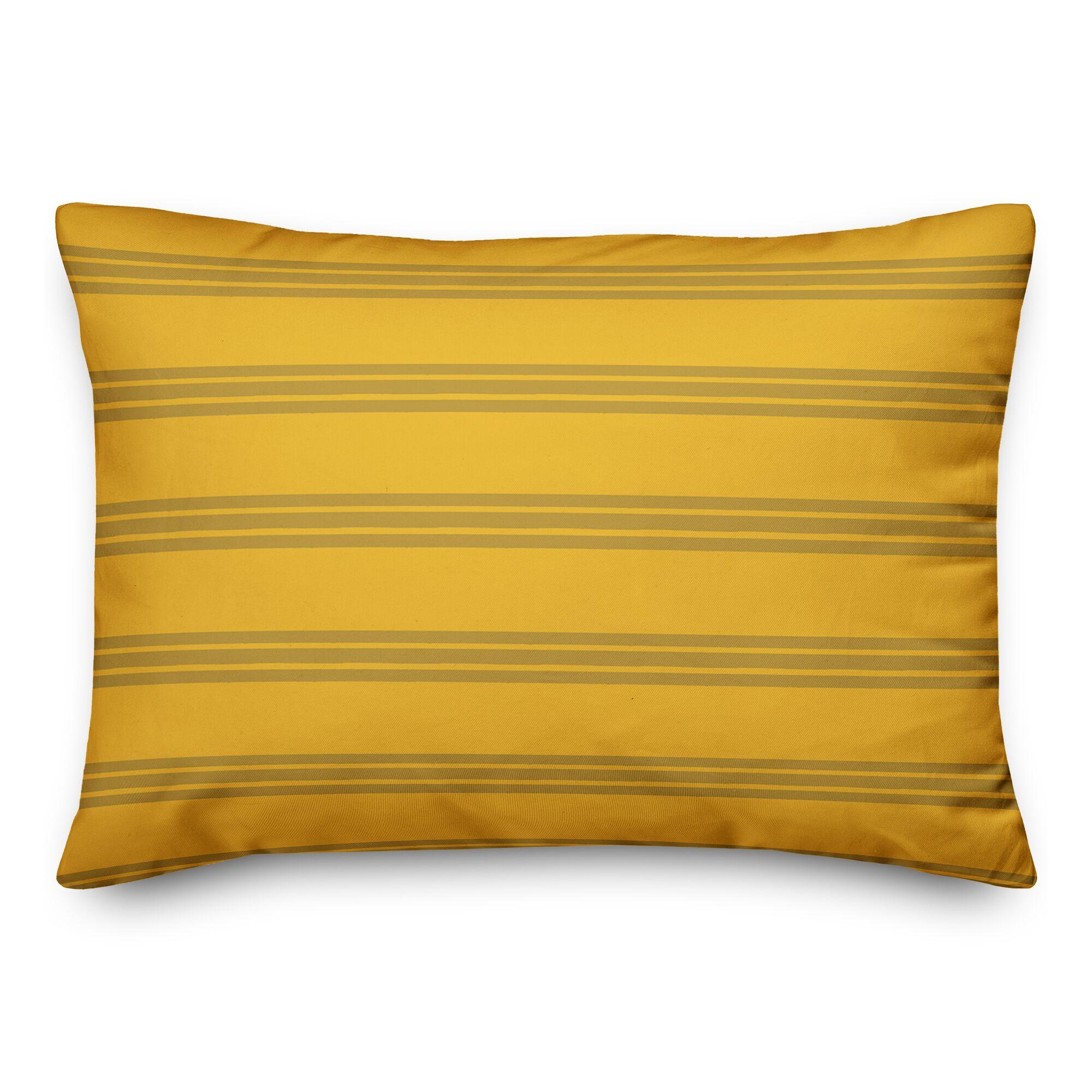 Mathes Stripes Lumbar Pillow Color: Yellow