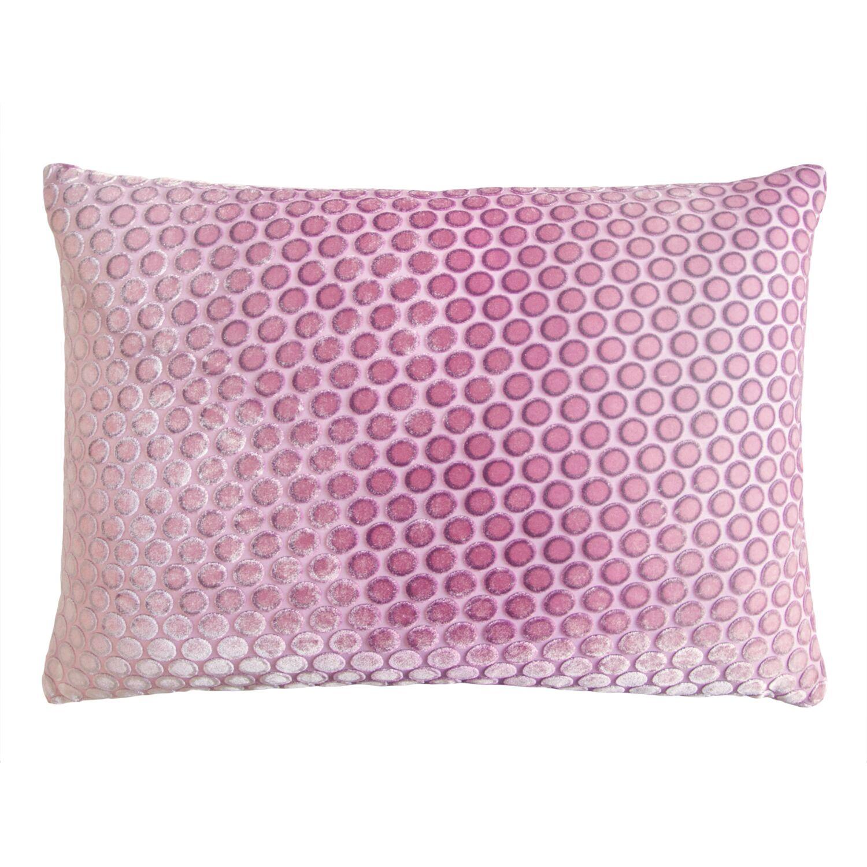 Dots Velvet Lumbar Pillow Color: Azalea