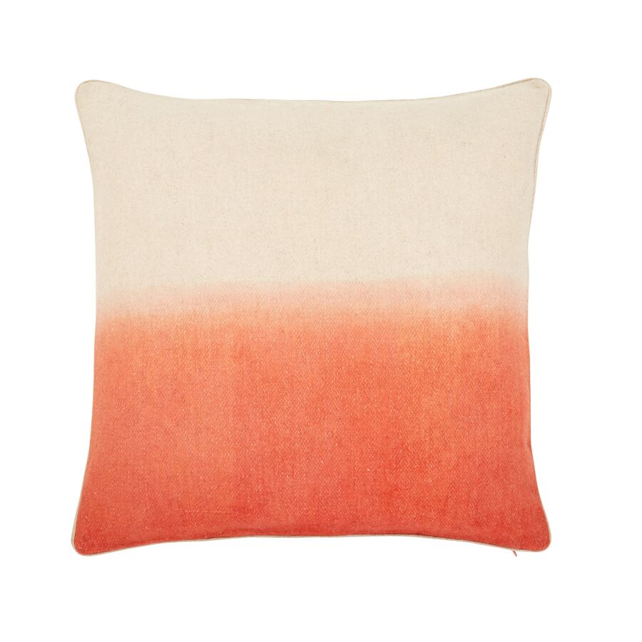 Jenkins Ombre Throw Pillow Color: Coral