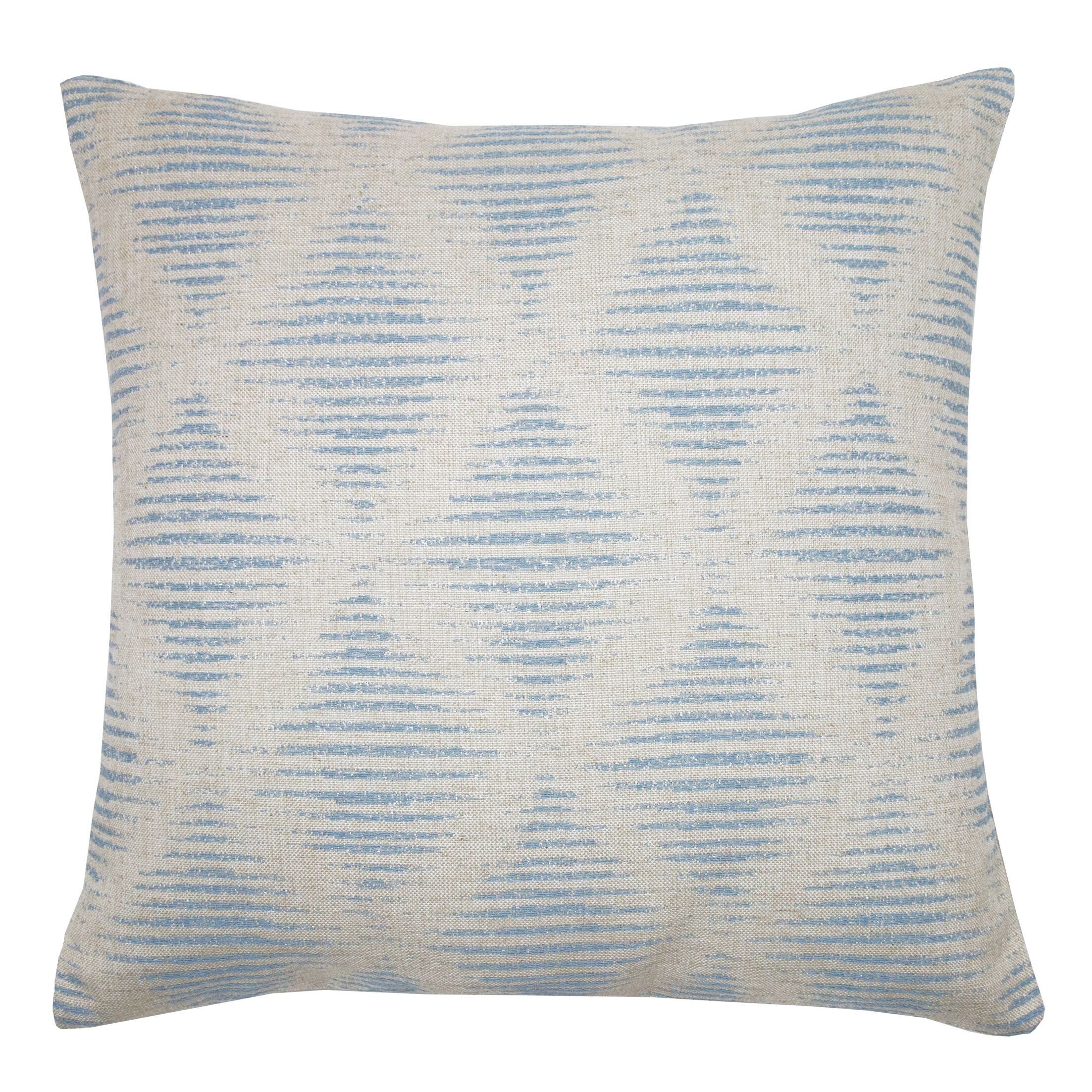 Kinney Embroidered Geometric Throw Pillow Color: Twilight
