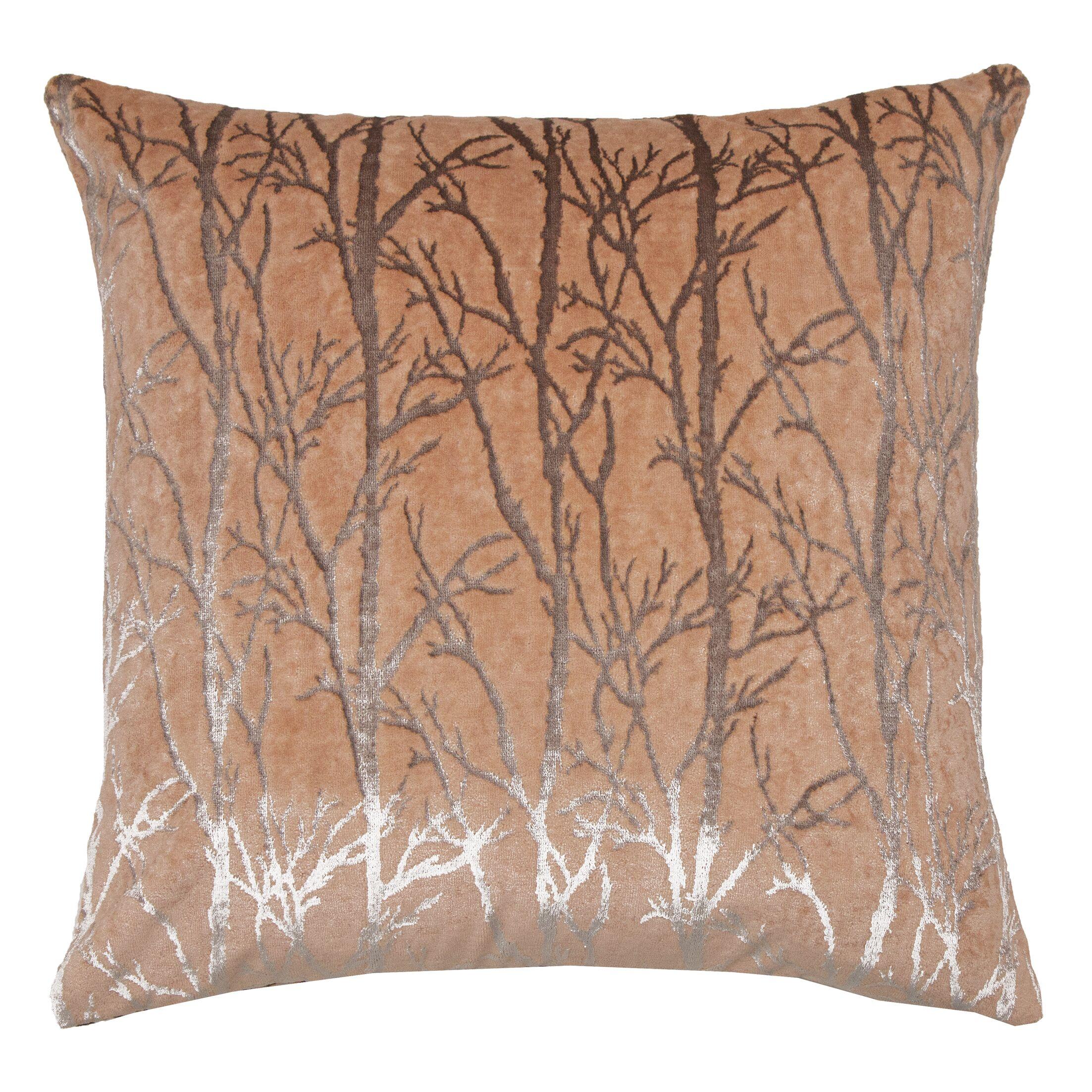 Verona Throw Pillow Color: Coral