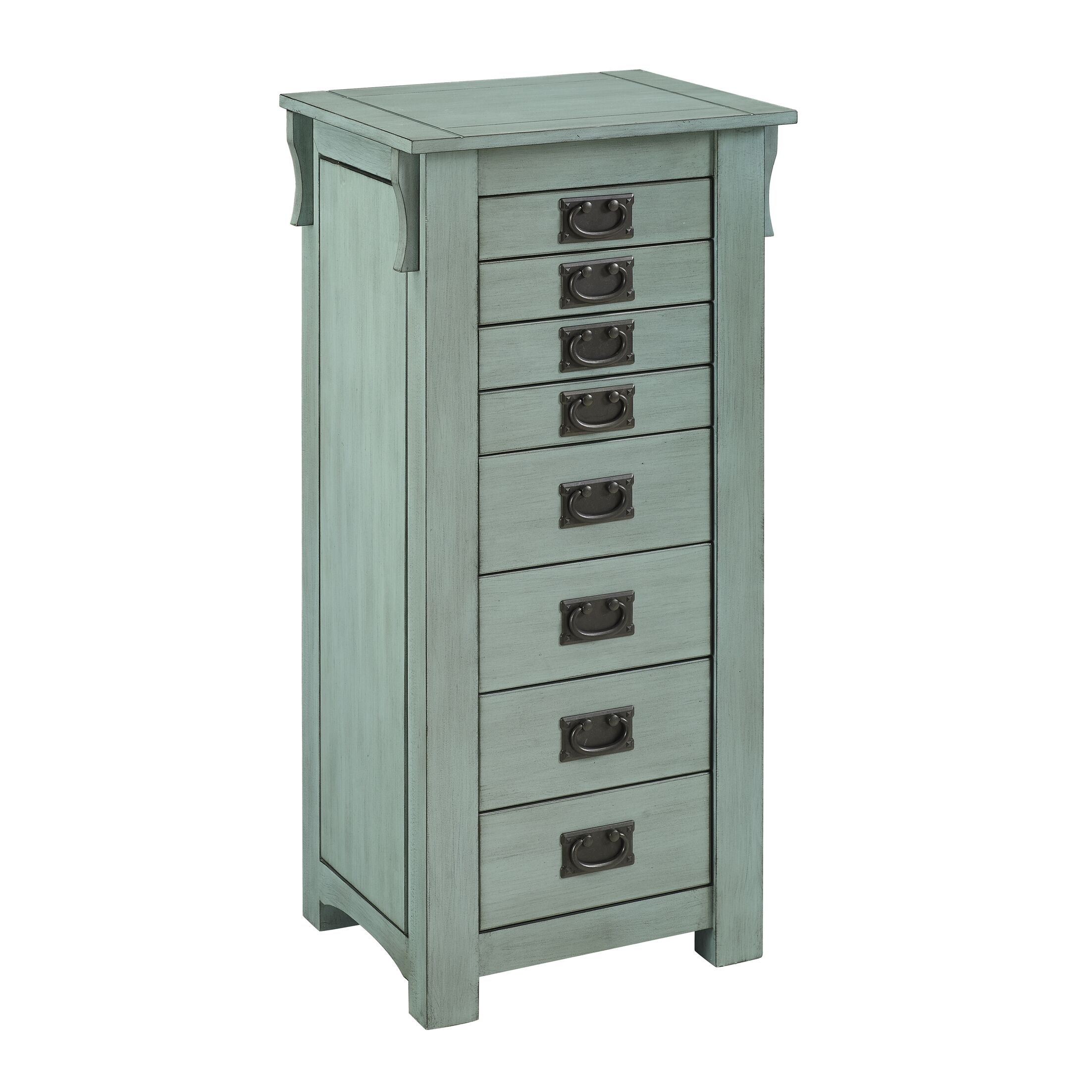 Mara Free Standing Jewelry Armoire Color: Teal