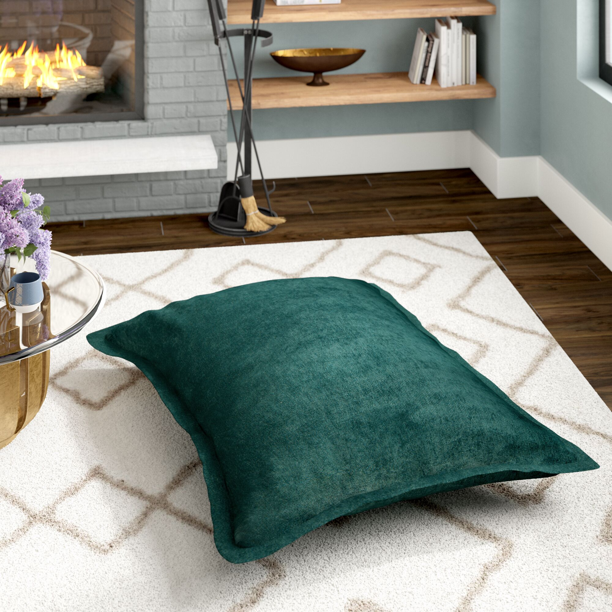 Edwards Floor Pillow Color: Marine