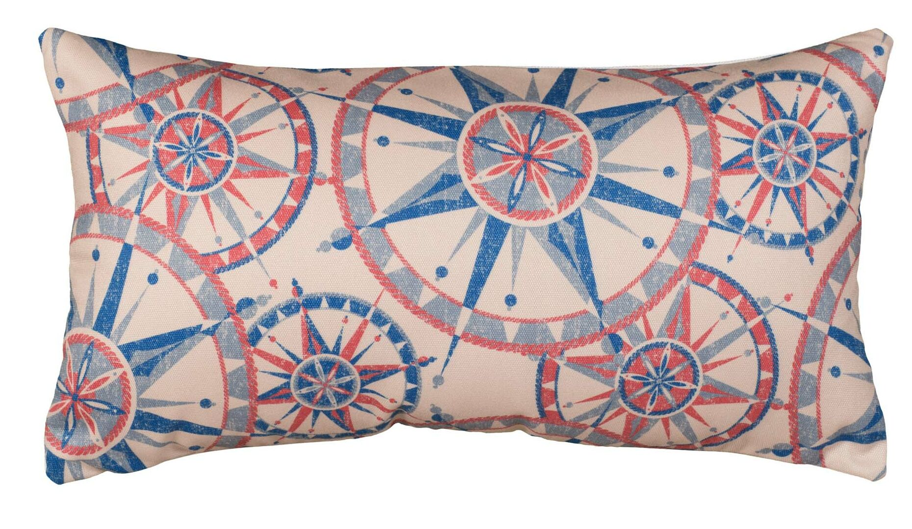 Niamh Compass Cotton Lumbar Pillow Size: 12