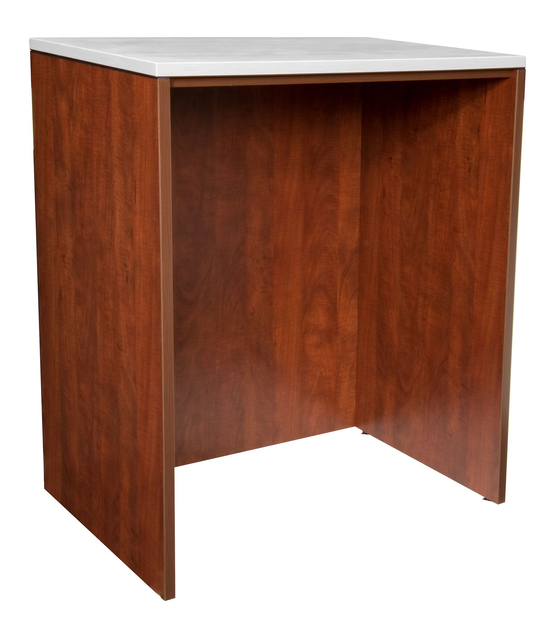 Linh Stand Up Desk Table Base Color: Cherry
