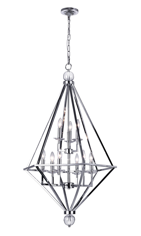 Calista 9-Light Geometric Chandelier