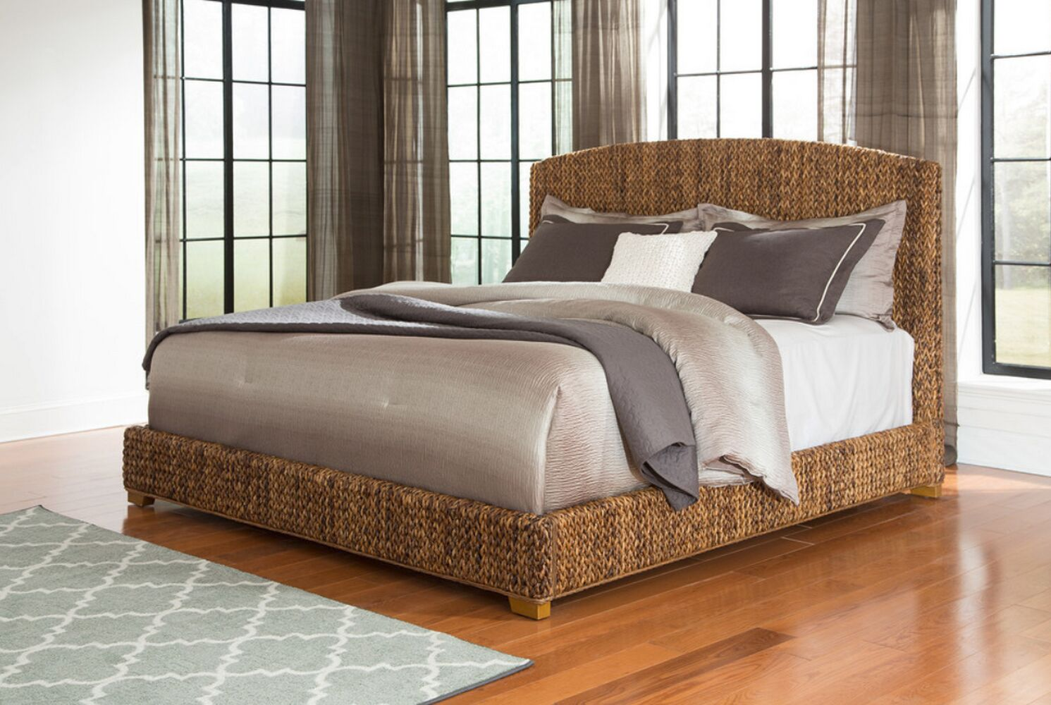 Corley Upholstered Panel Bed Size: California King
