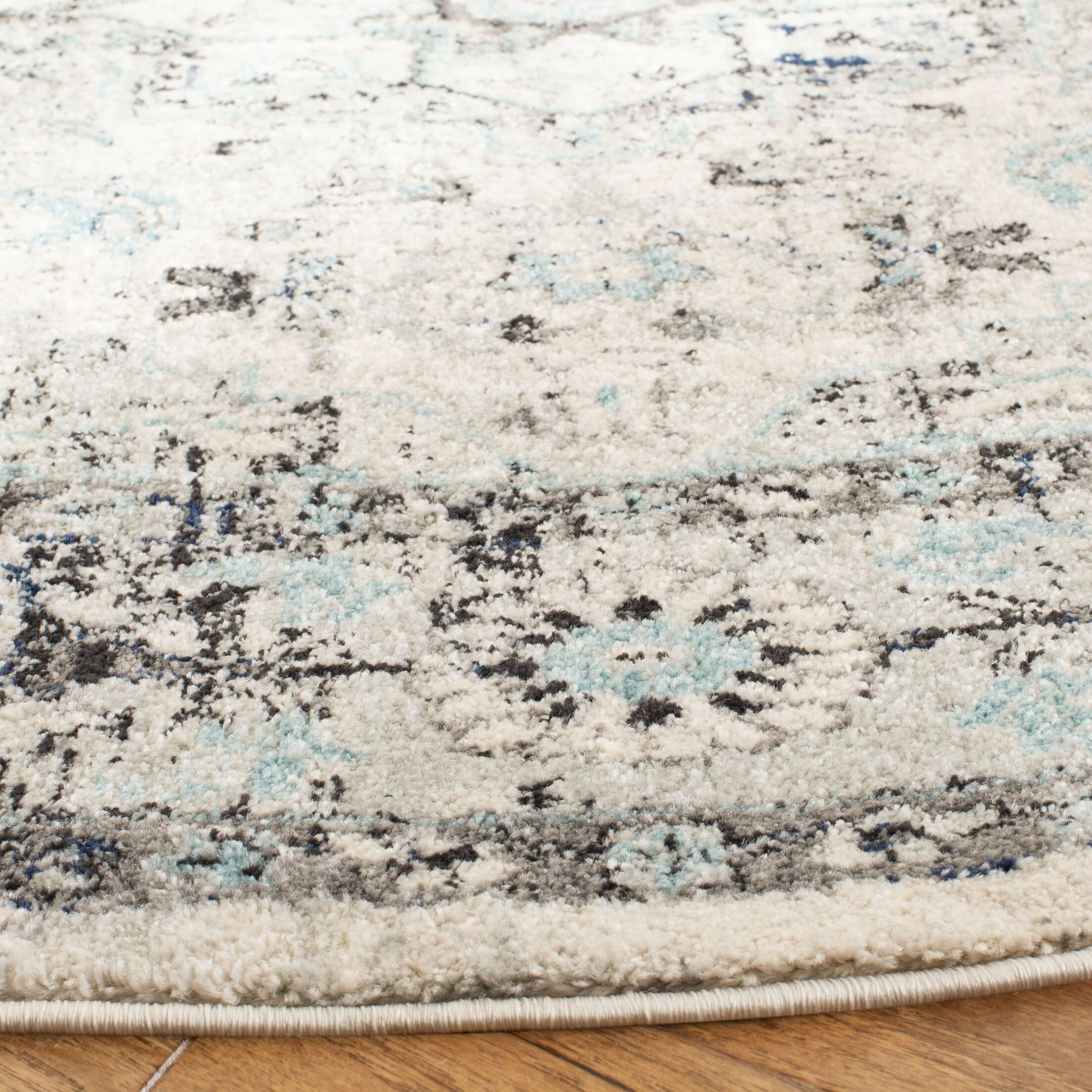 Kallie Gray/Blue Area Rug Rug Size: Rectangle 5'3