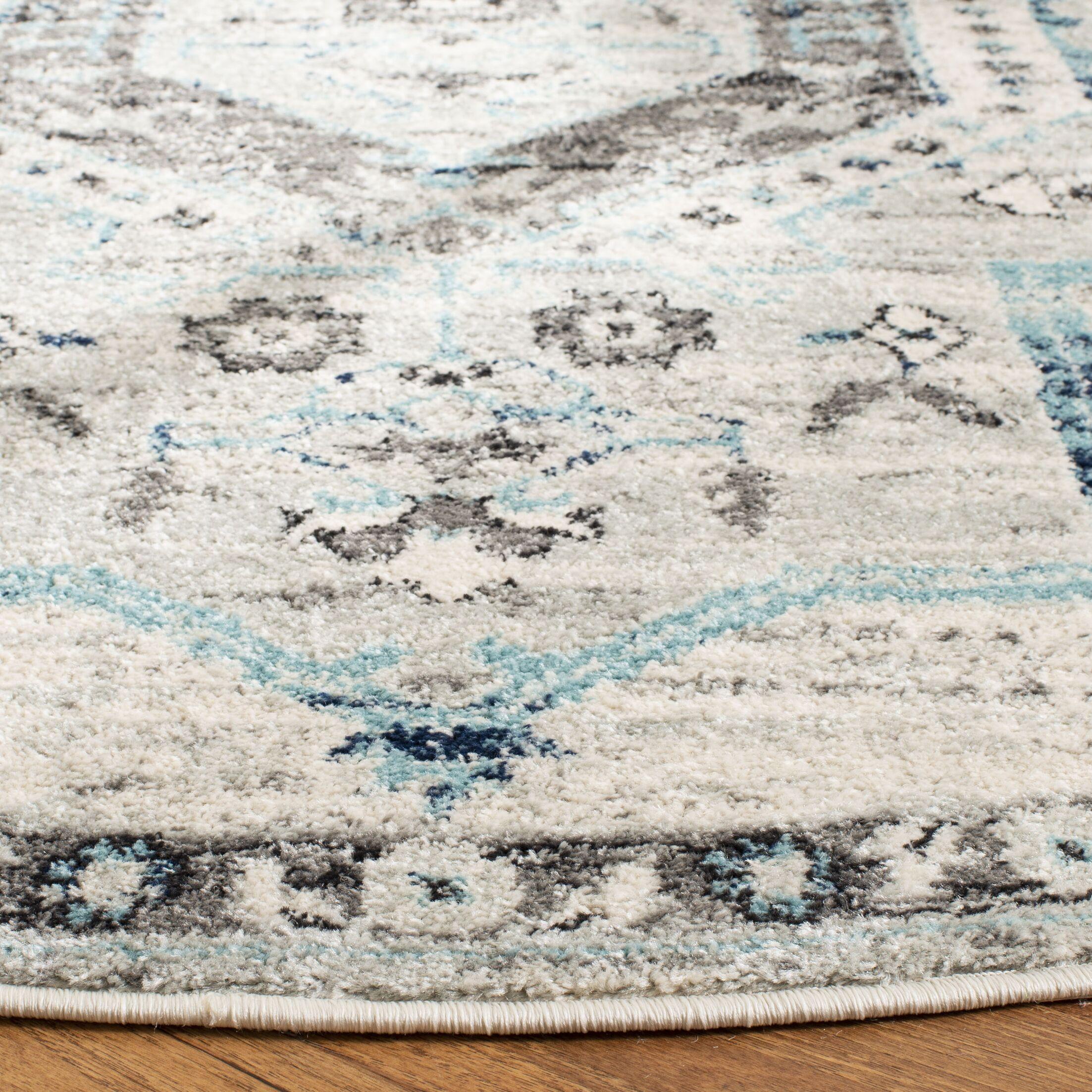 Kauffman Gray/Blue Area Rug Rug Size: Square 6'7