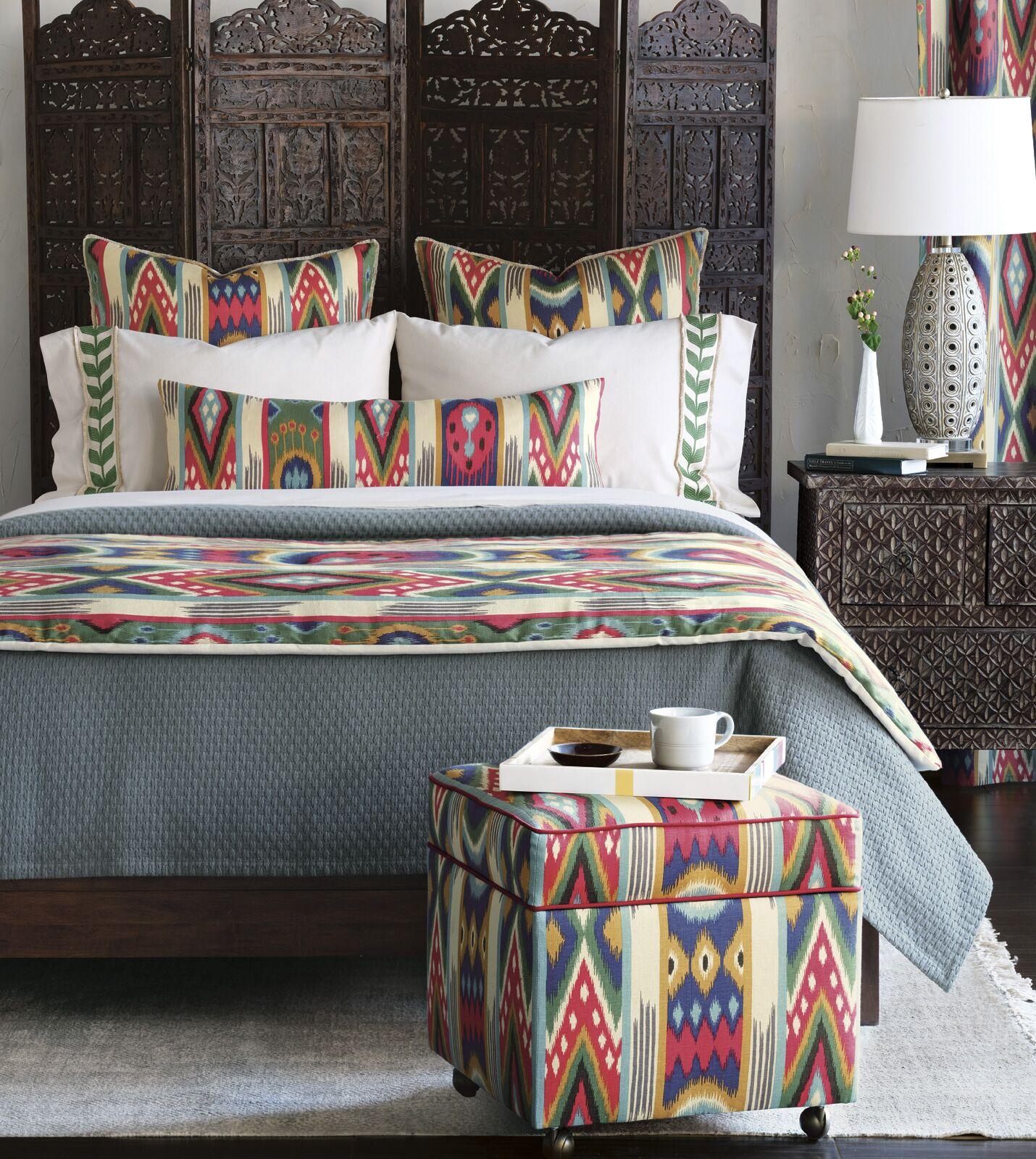 Akela Ethnic Ikat Lumbar Pillow