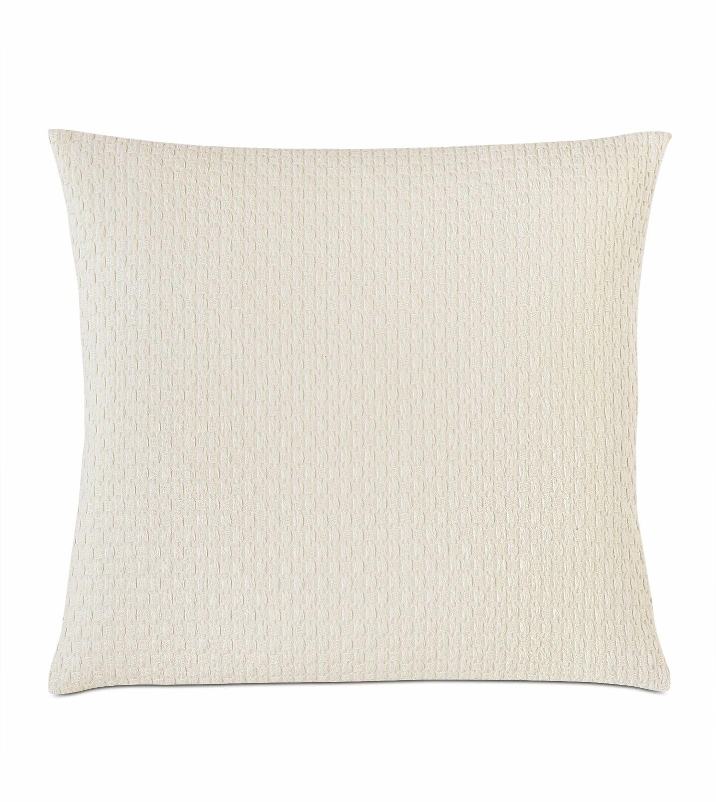 Akela Textured Matelasse Cotton Throw pillow Color: Ivory