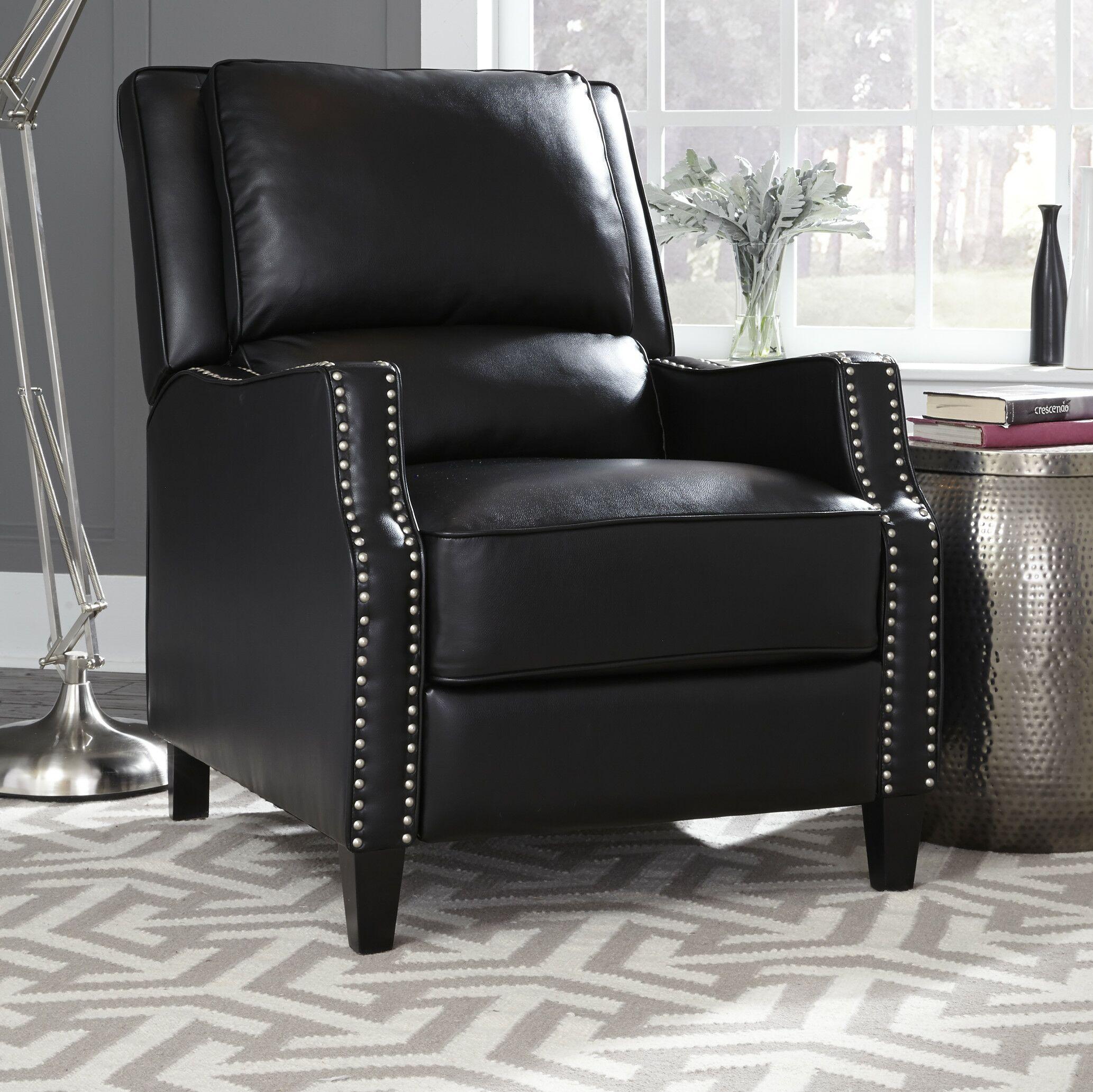 Gillies Manual Recliner Upholstery: Black