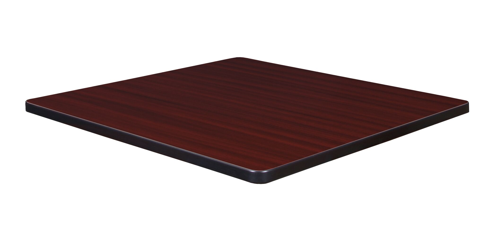 Hassinger Square Laminate Table Top Color: Mahogany/Mocha Walnut, Size: 1