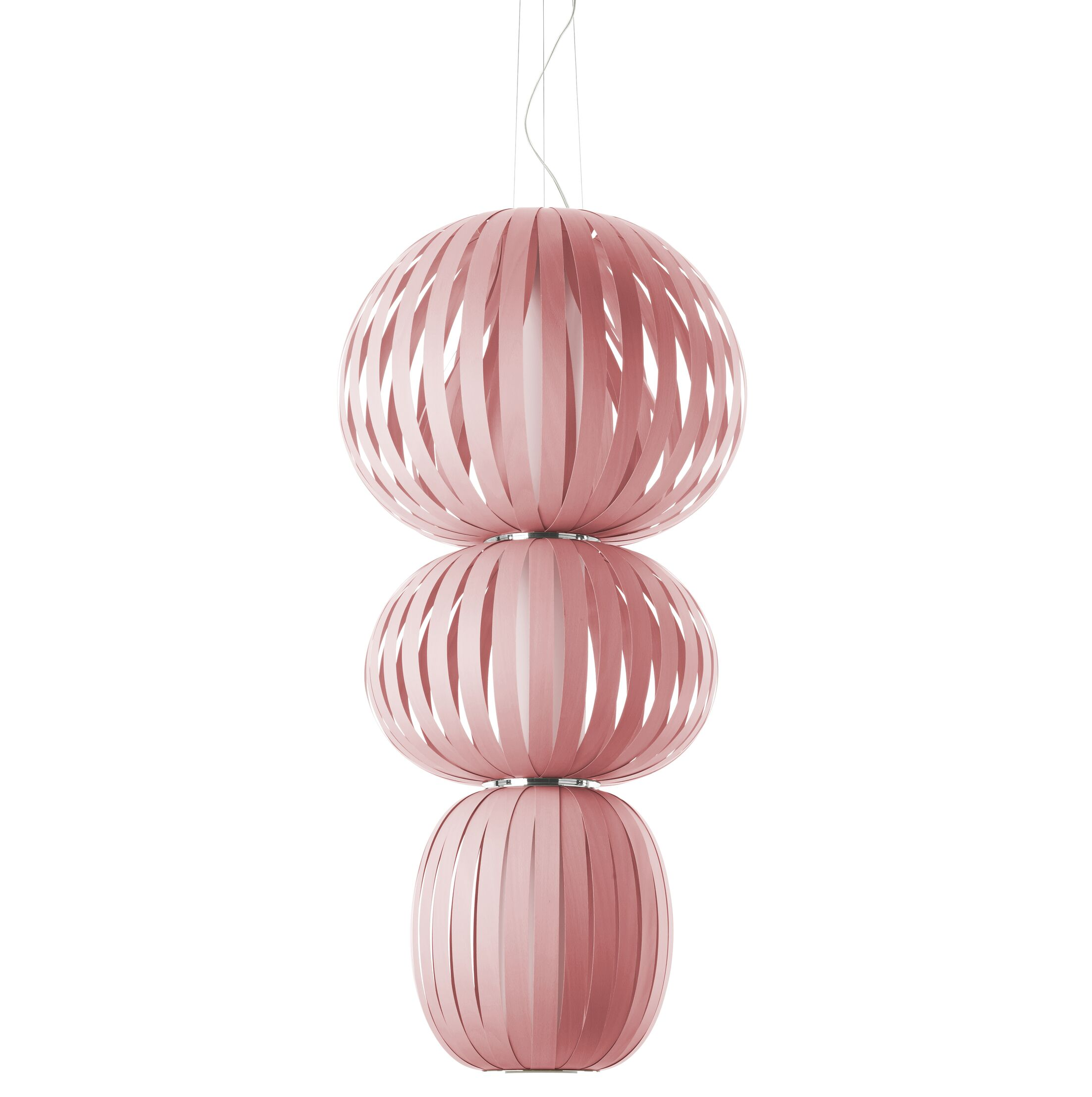 Totem 2-Light Geometric Chandelier Features: Multivolt Ballast, Finish: Pink