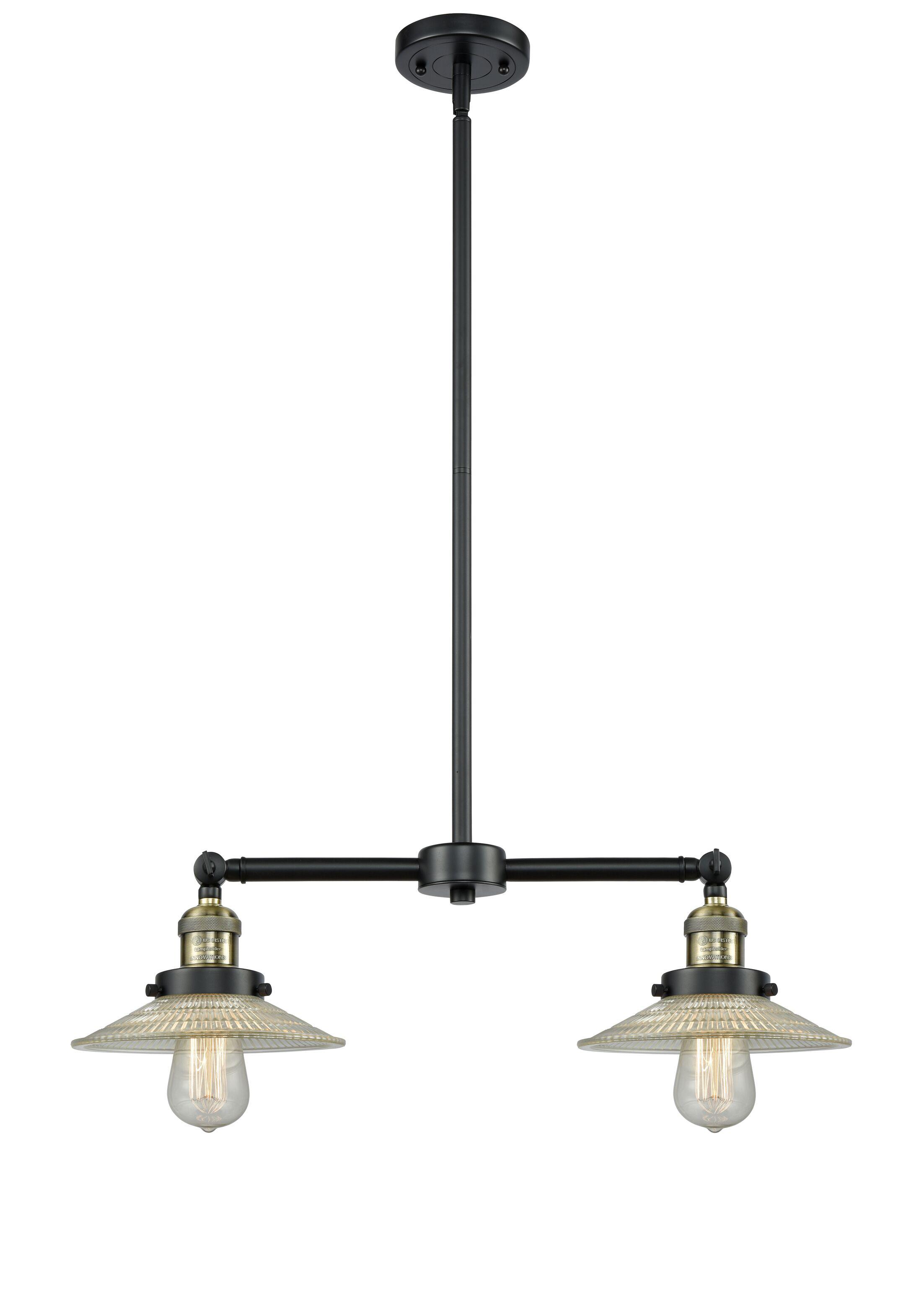 Briar 2-Light Kitchen Island Pendant Bulb Type: LED, Finish: Black Antique Brass